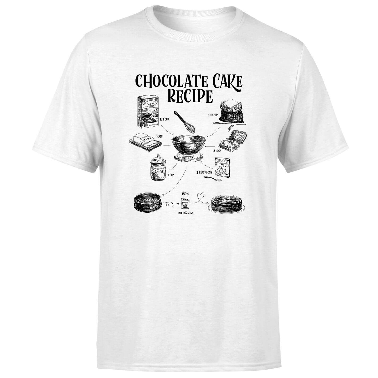 Chocolate Cake Recipe T-Shirt - White