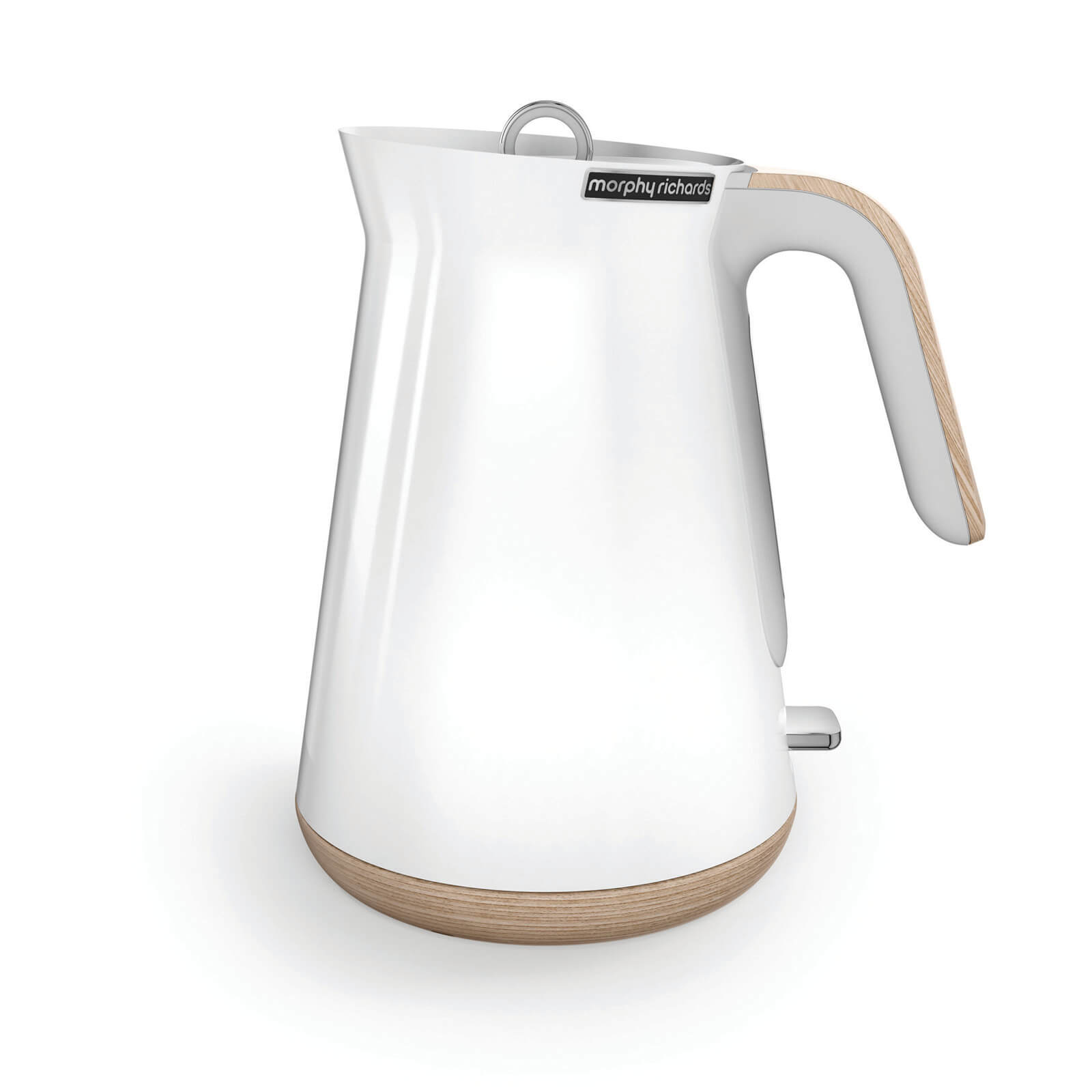 Morphy Richards Aspect Steel Jug Kettle - White/Wood