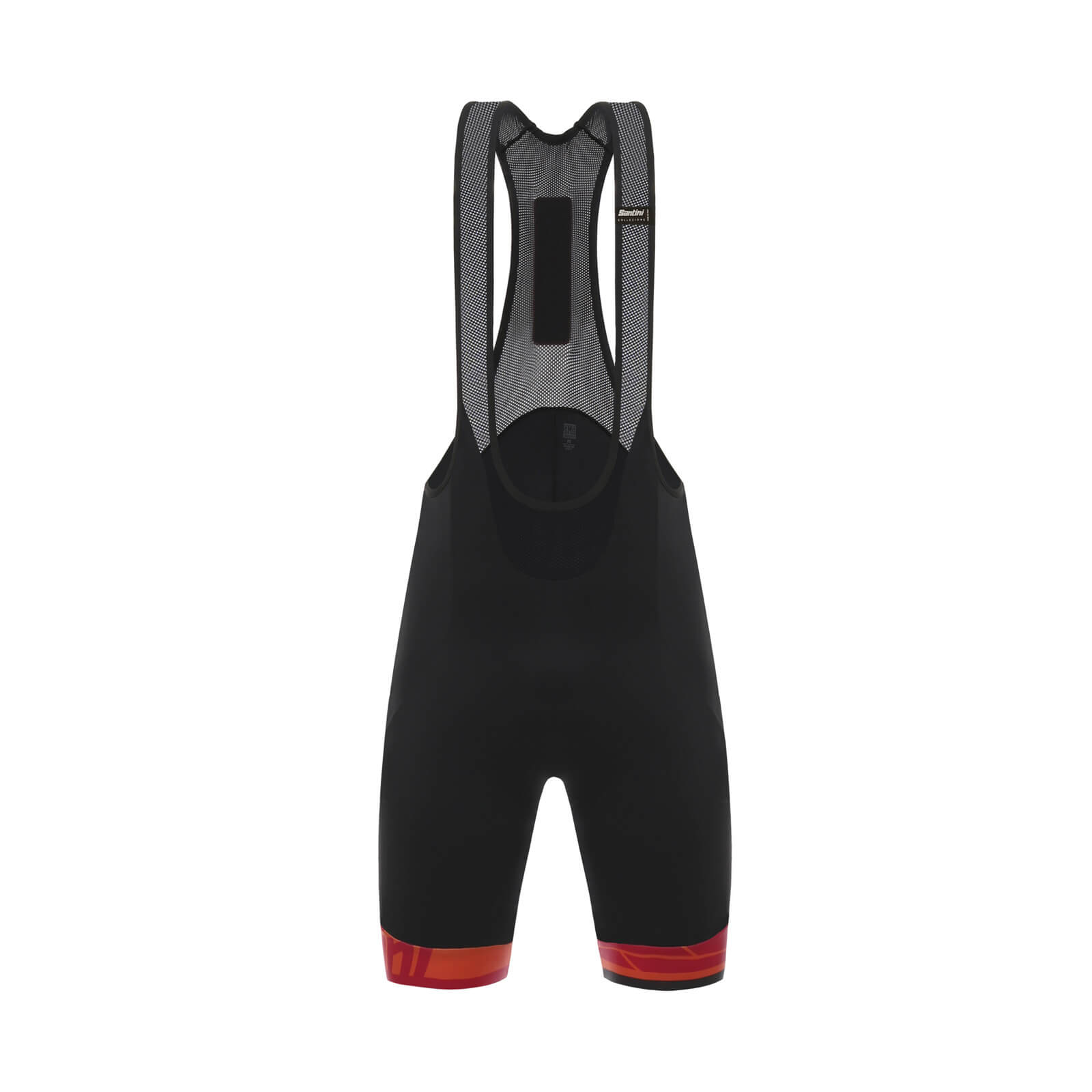Santini Ace Elite Bib Shorts - Black/Red