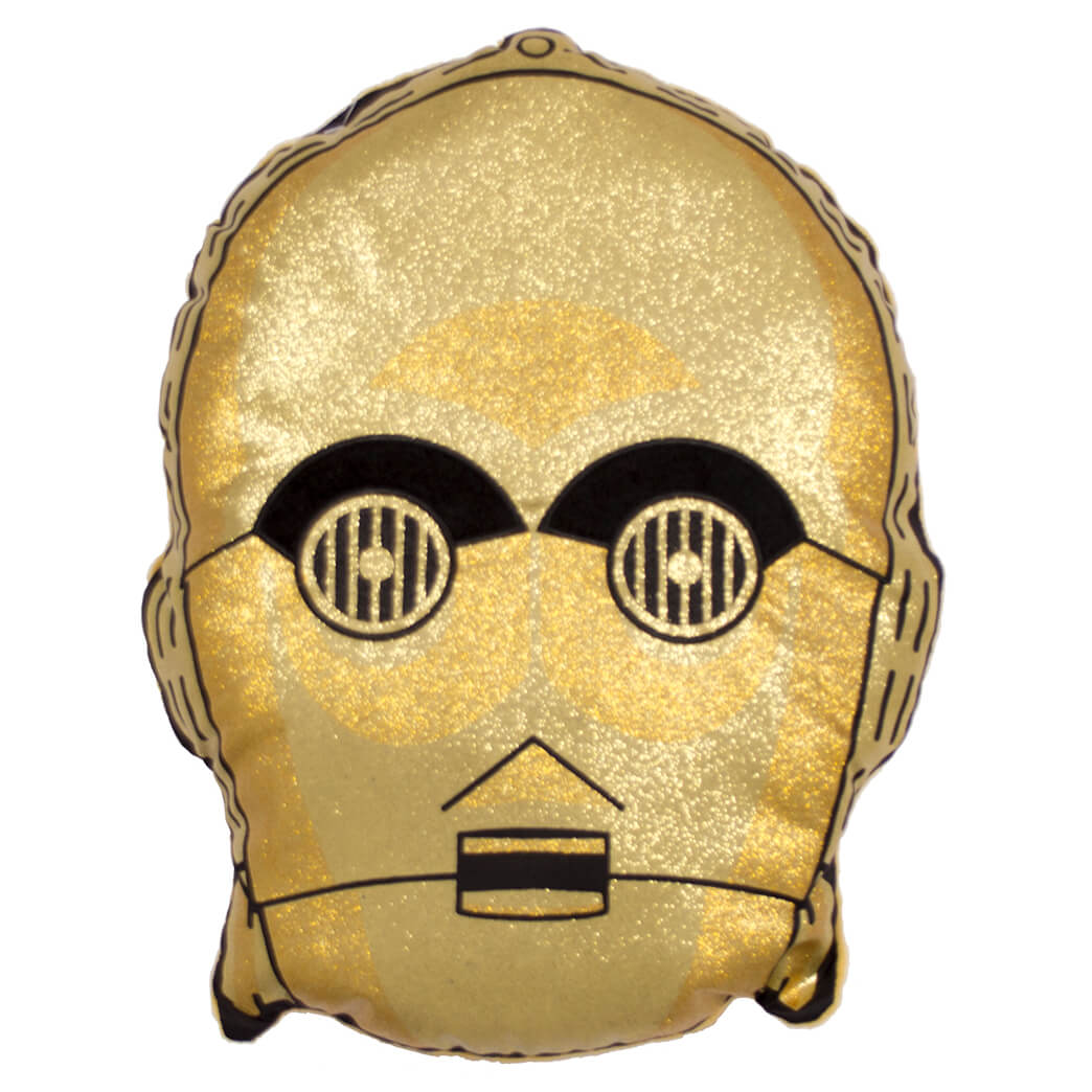 Star Wars C-3PO Gold Shaped Cushion