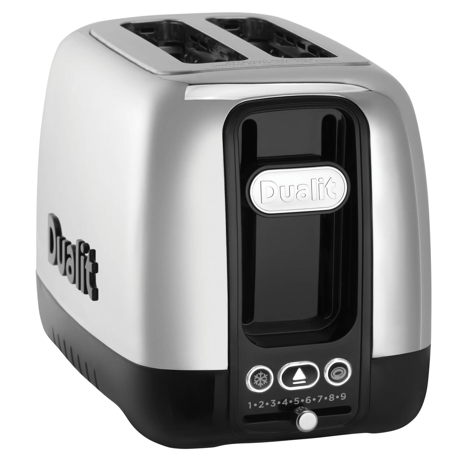 Dualit 26600 Domus 2 Slot Toaster - Polished Steel/Black