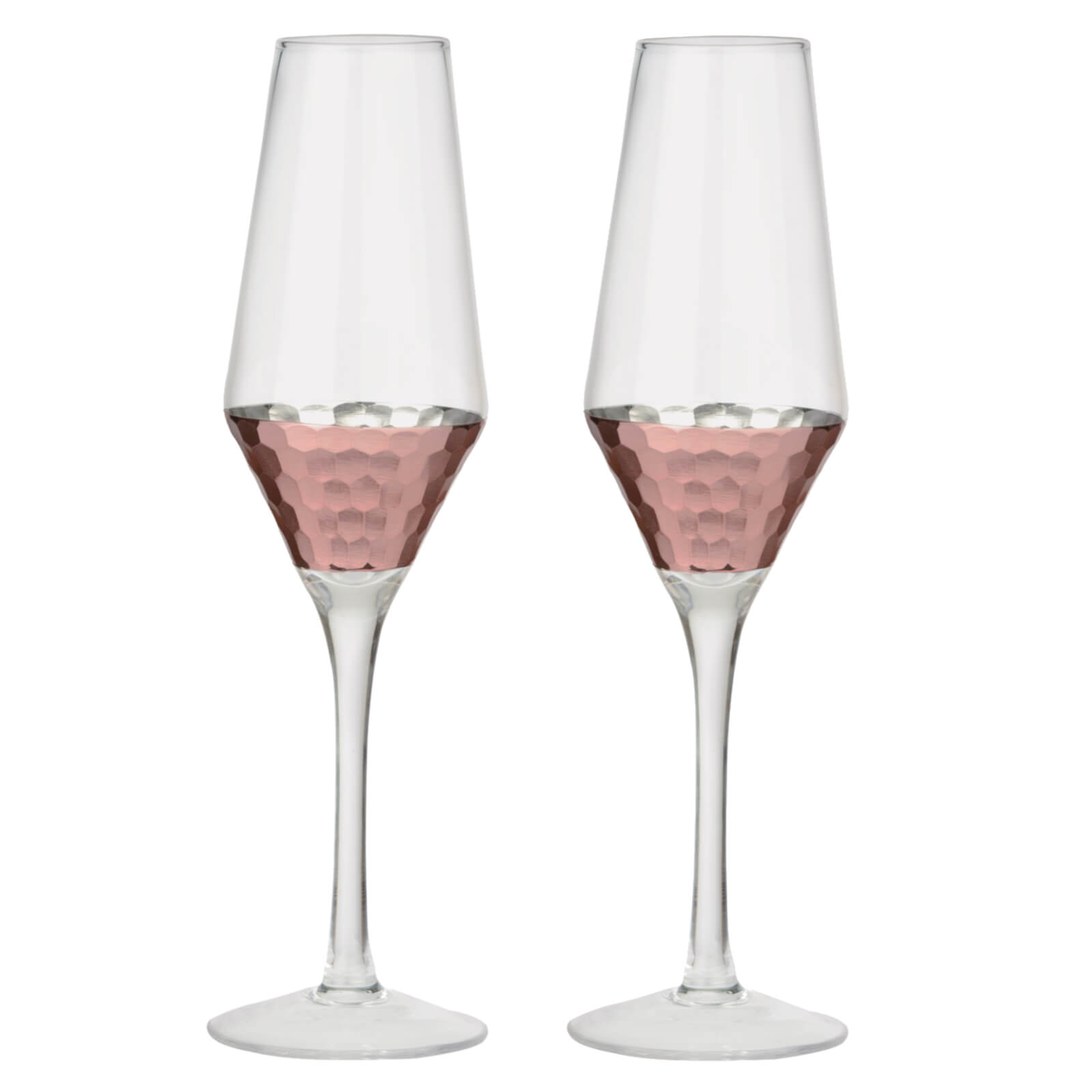Artland Coppertino Flute Glasses (Box of 2)