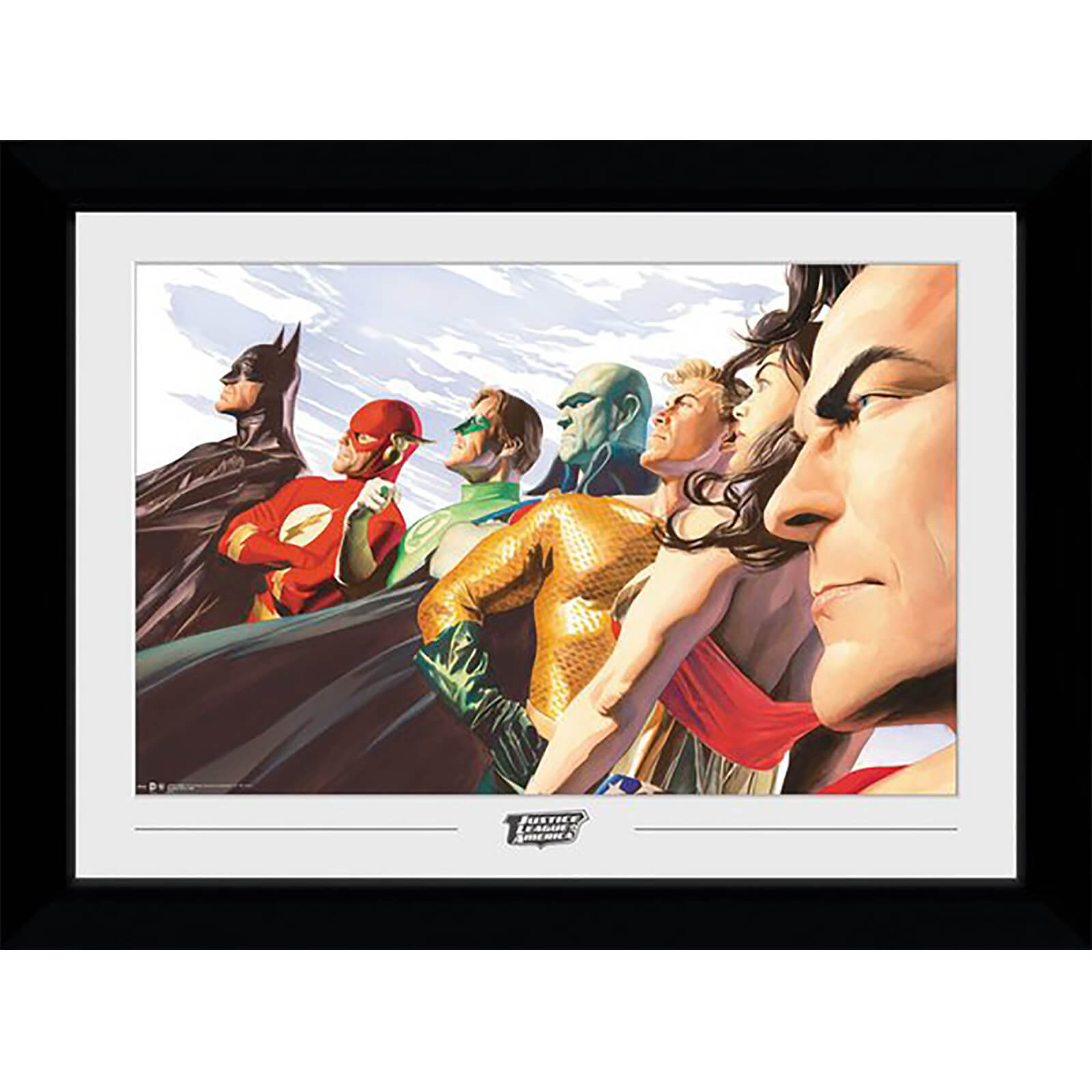 DC Comics JLA Ross Collector 50 x 70cm Framed Photograph