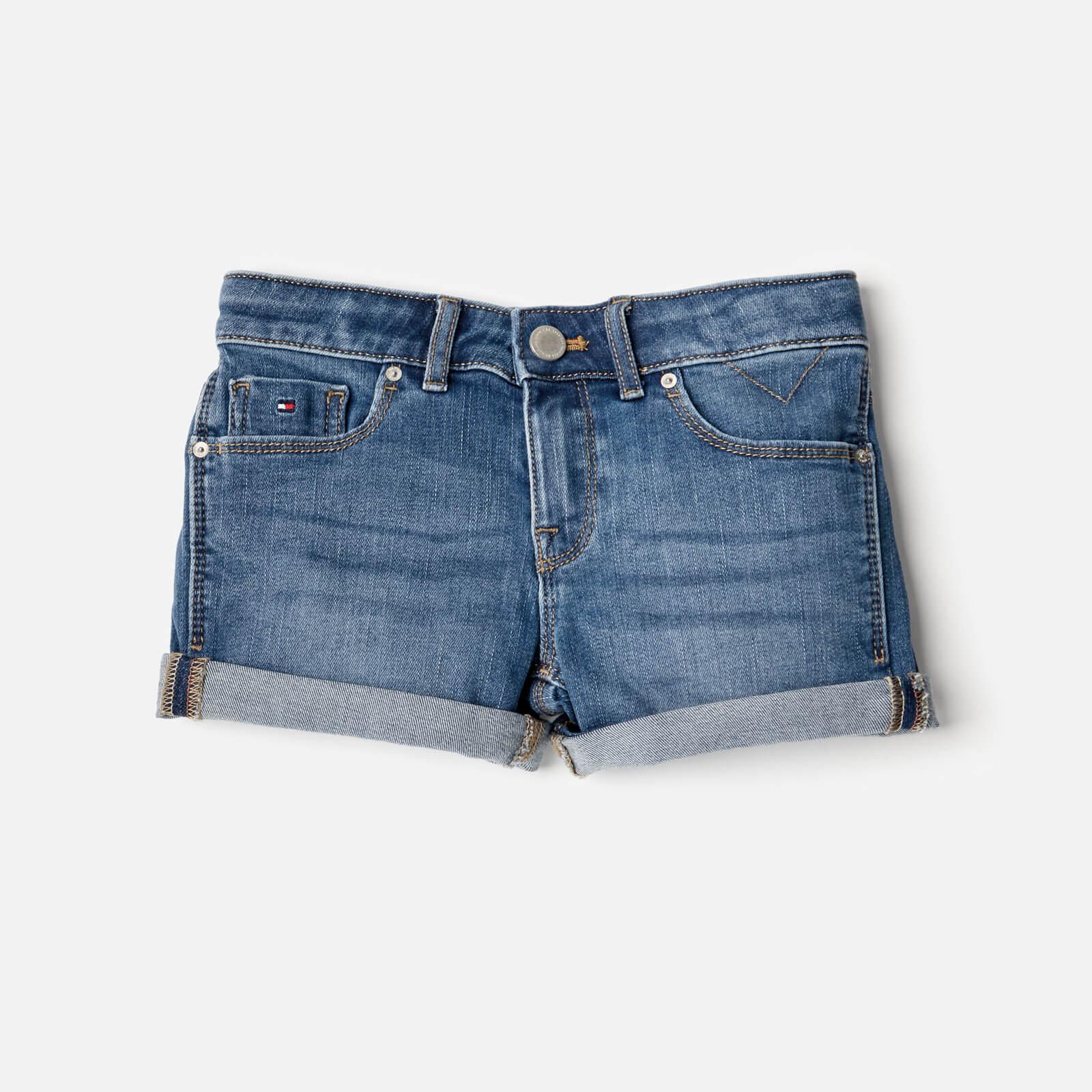 0834e7241bf Tommy Hilfiger Girls' Nora Stretch Denim Shorts - Clifton Mid Blue Clothing    TheHut.com