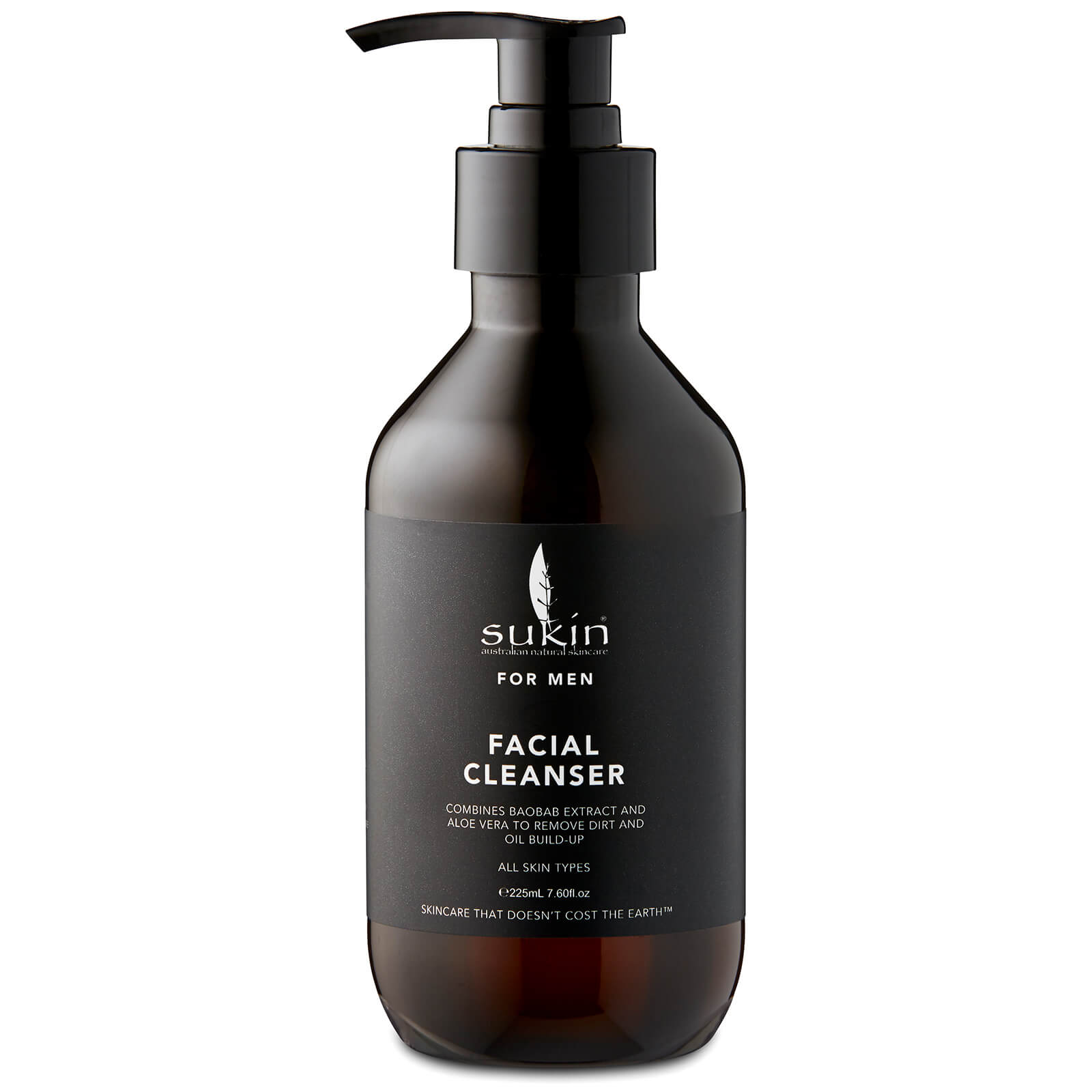 Sukin For Men Facial Cleanser 225ml Free Shipping Lookfantastic