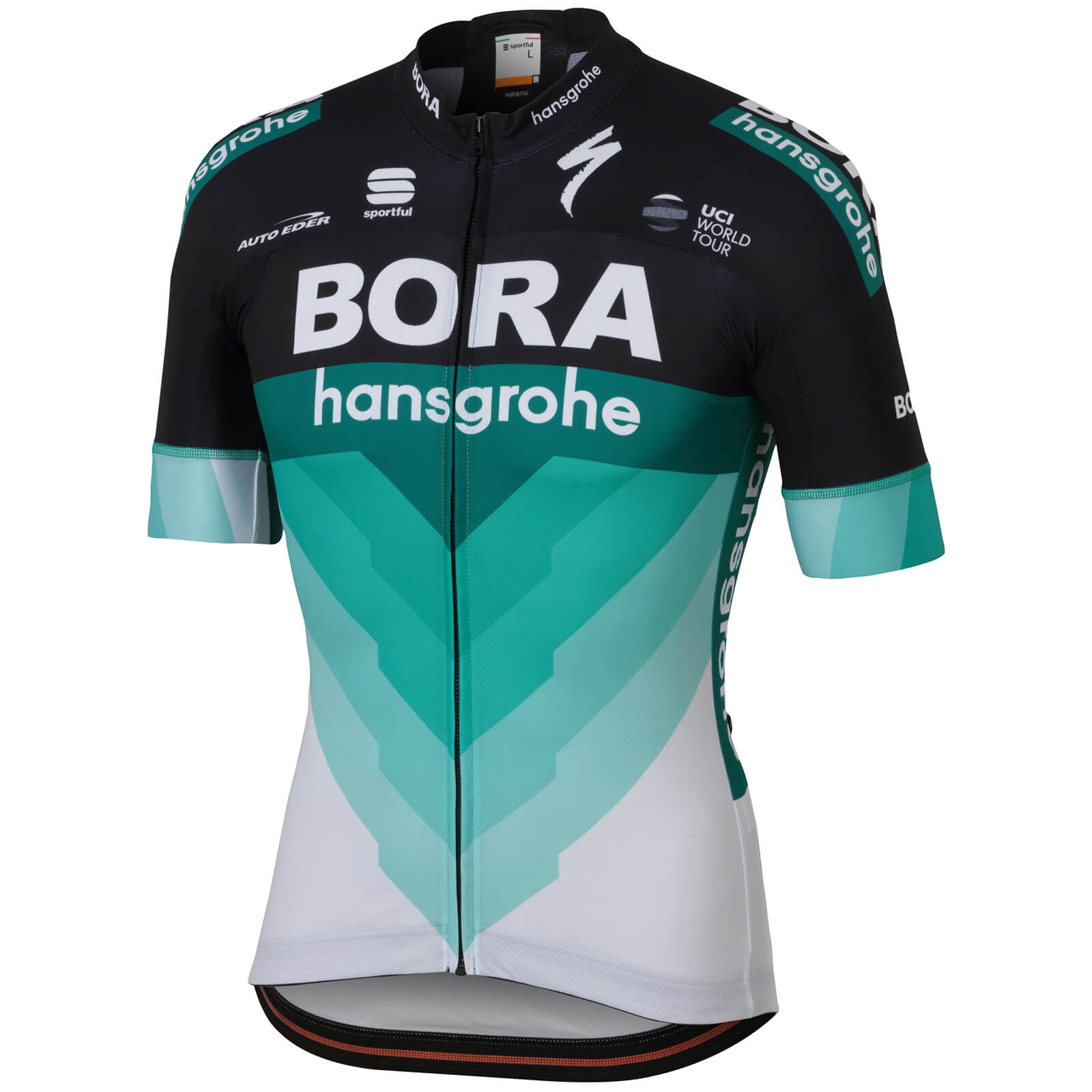 Sportful Bora Hansgrohe BodyFit Team Jersey - Black Green ... dd12dfdc5