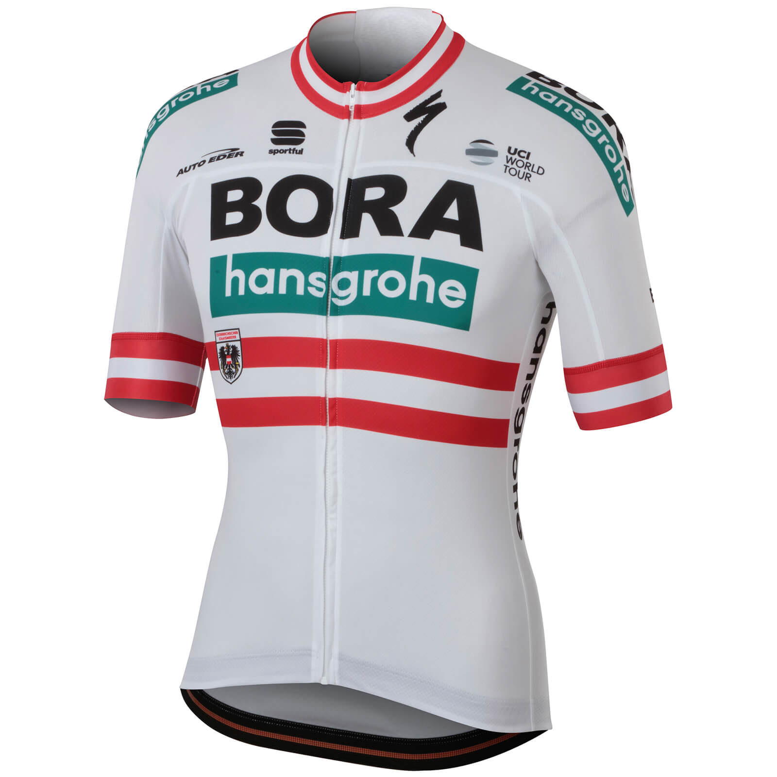 Sportful Bora Hansgrohe BodyFit Team Jersey - Austrian National Champion Edition