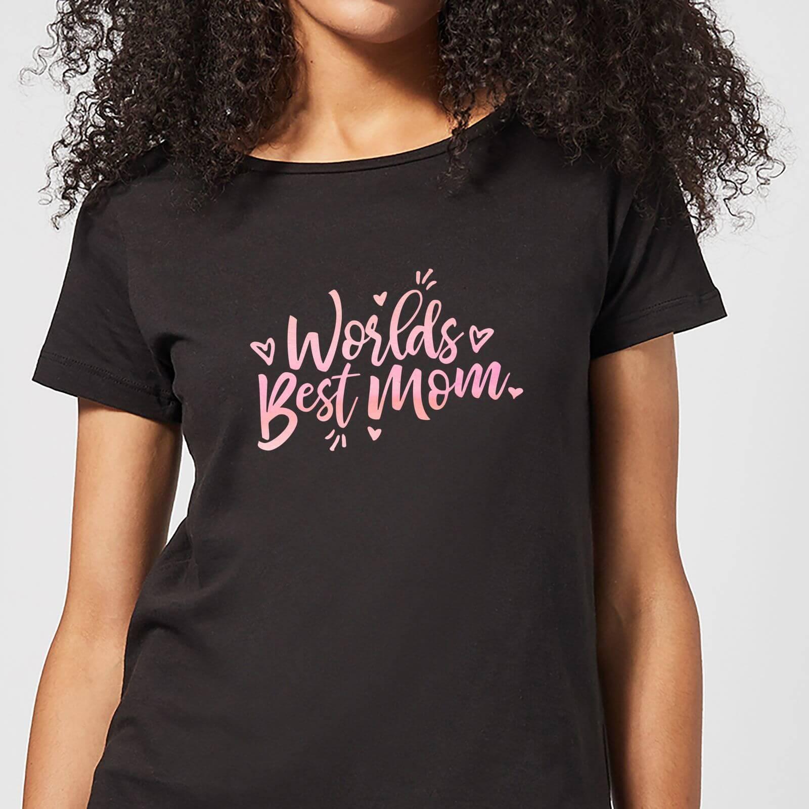 4850926c Worlds Best Mom Women's T-Shirt - Black Clothing | Zavvi