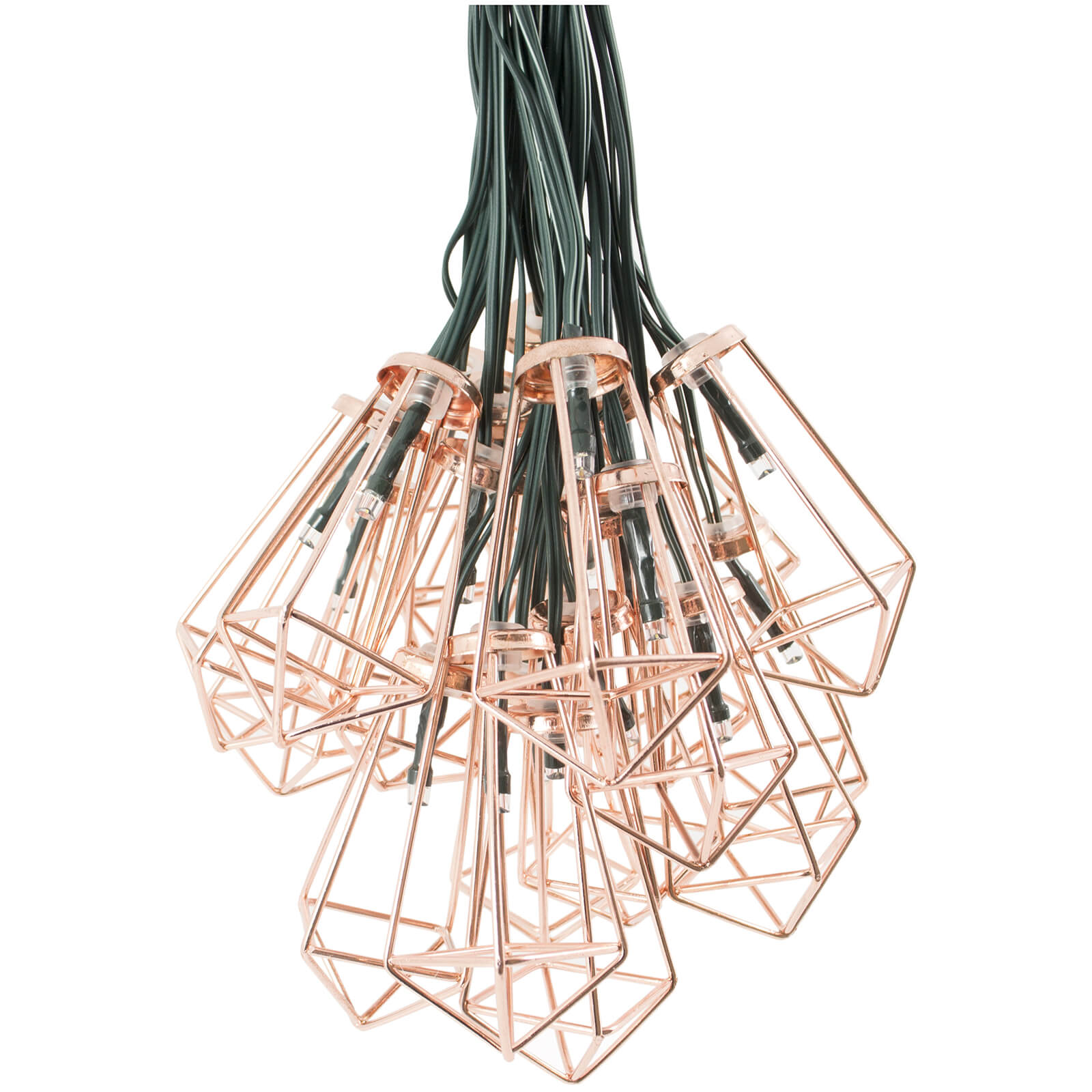 Elan Solar Copper Pendant Lantern Fairy Lights