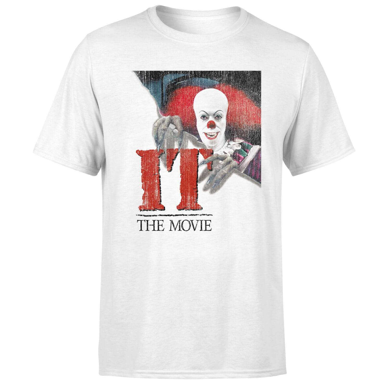 IT 1990 Pennywise Clown Movie Poster T-Shirt - White