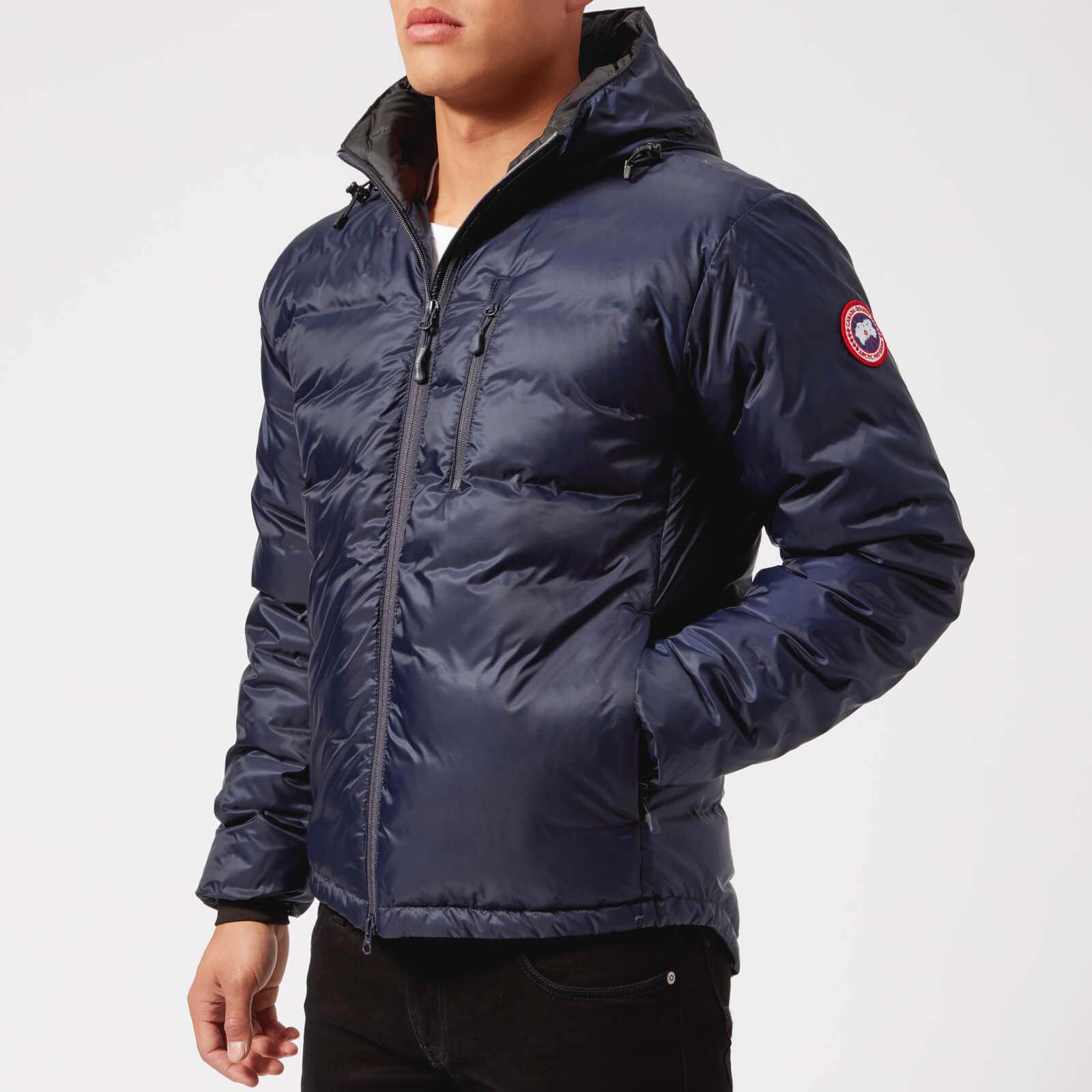 9e922d1316d8 Canada Goose Men s Lodge Hoody Jacket - Blue Black - Free UK Delivery over  £50