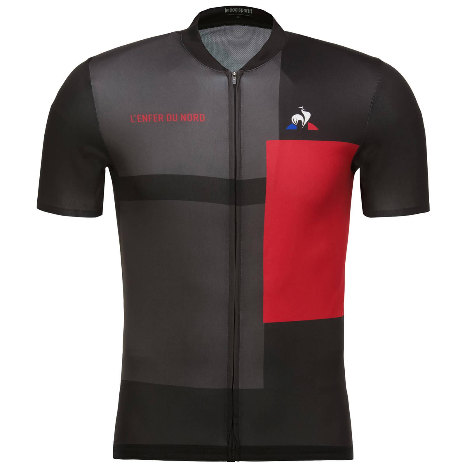 2f100c538 Le Coq Sportif Tour de France 2018 L Enfer Du Nord Jersey - Black Red