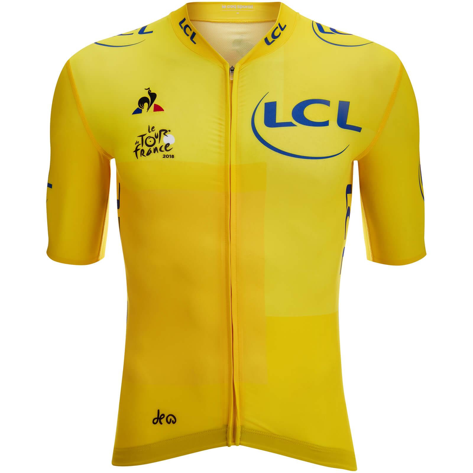 becfdbb00 Le Coq Sportif Tour de France 2018 Leaders Official Premium Jersey - Yellow