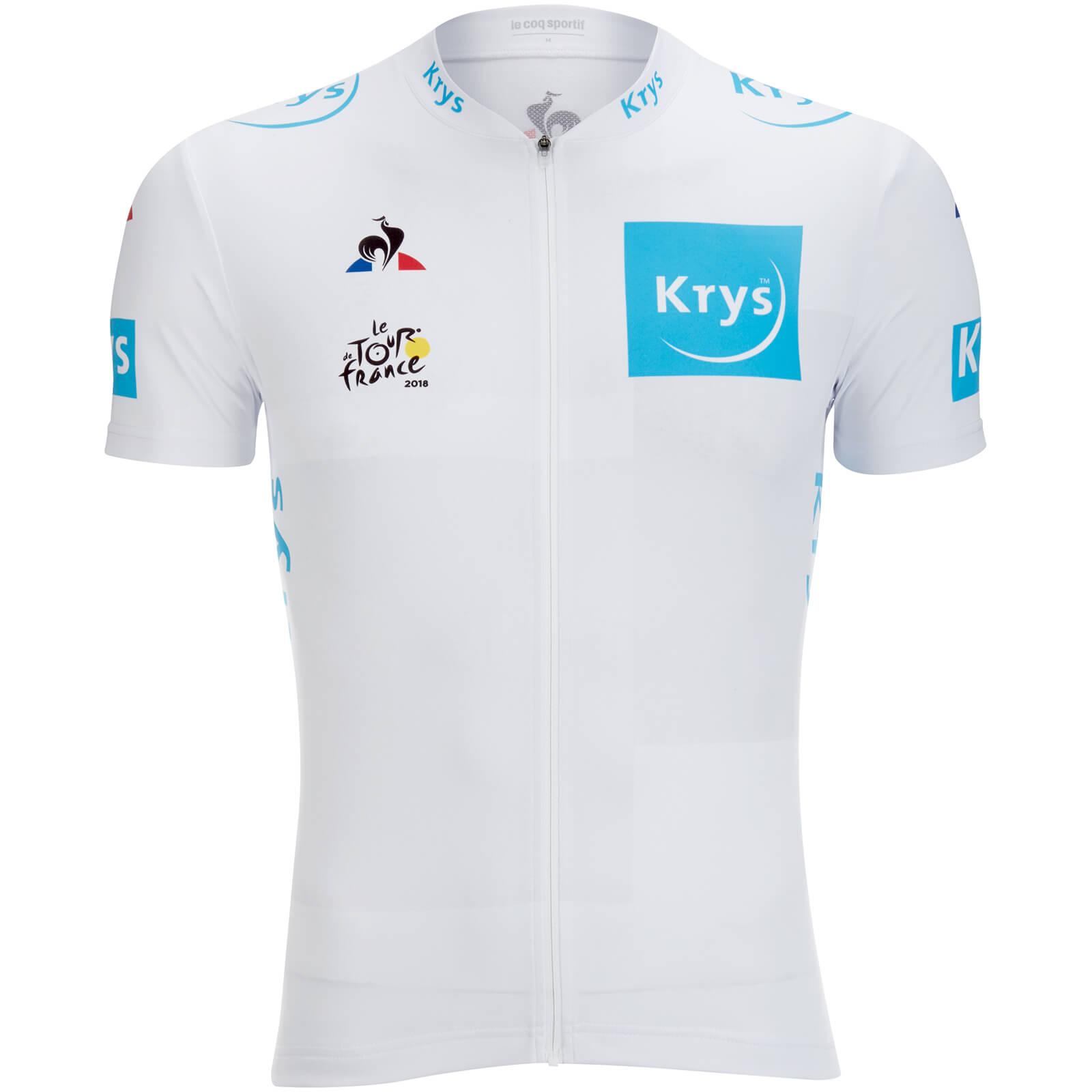 Le Coq Sportif Tour de France 2018 Young Riders Classification Official  Jersey - White  049d8bac3