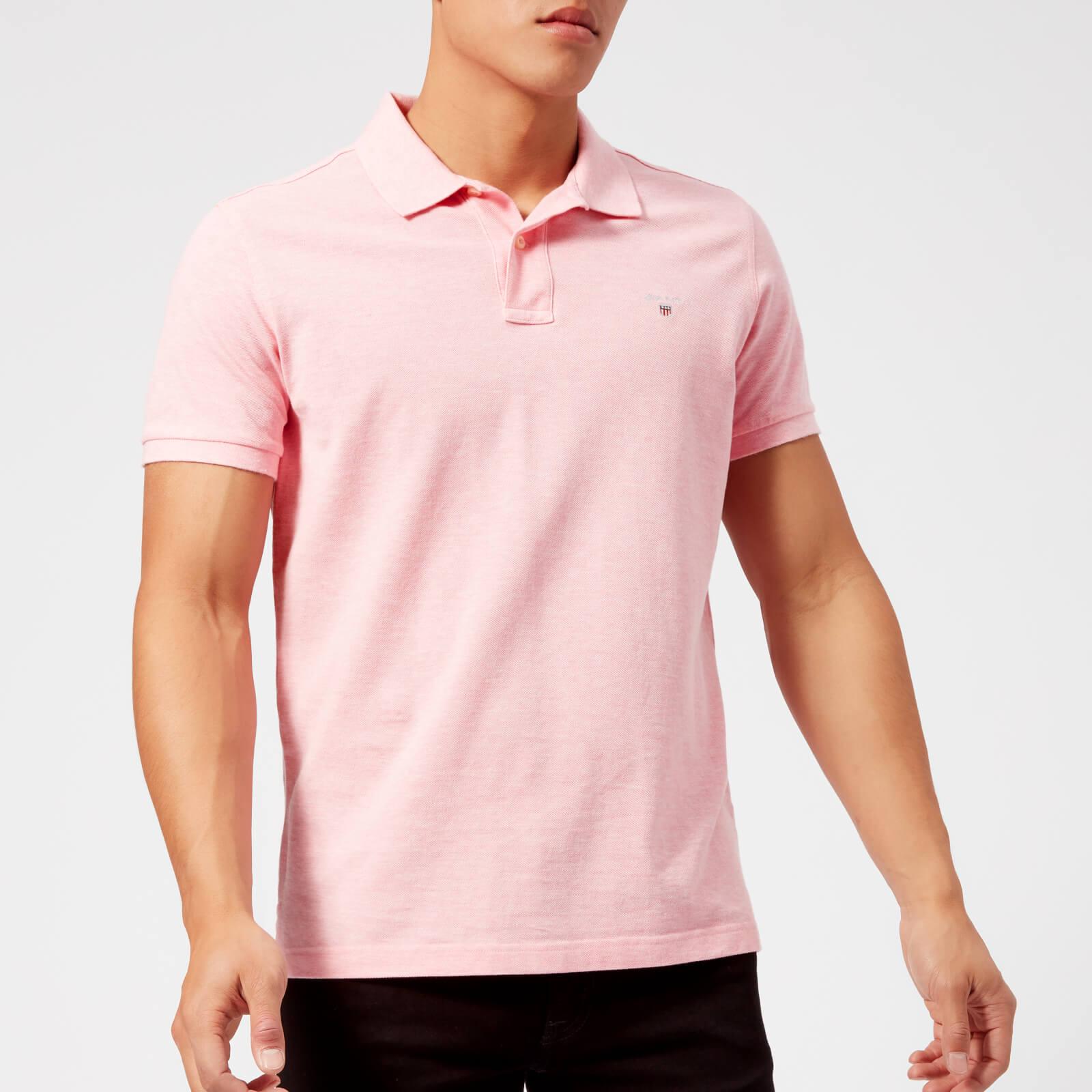 8a07c9b72e06 GANT Men's Original Pique Polo Shirt - Light Pink Melange Clothing |  TheHut.com