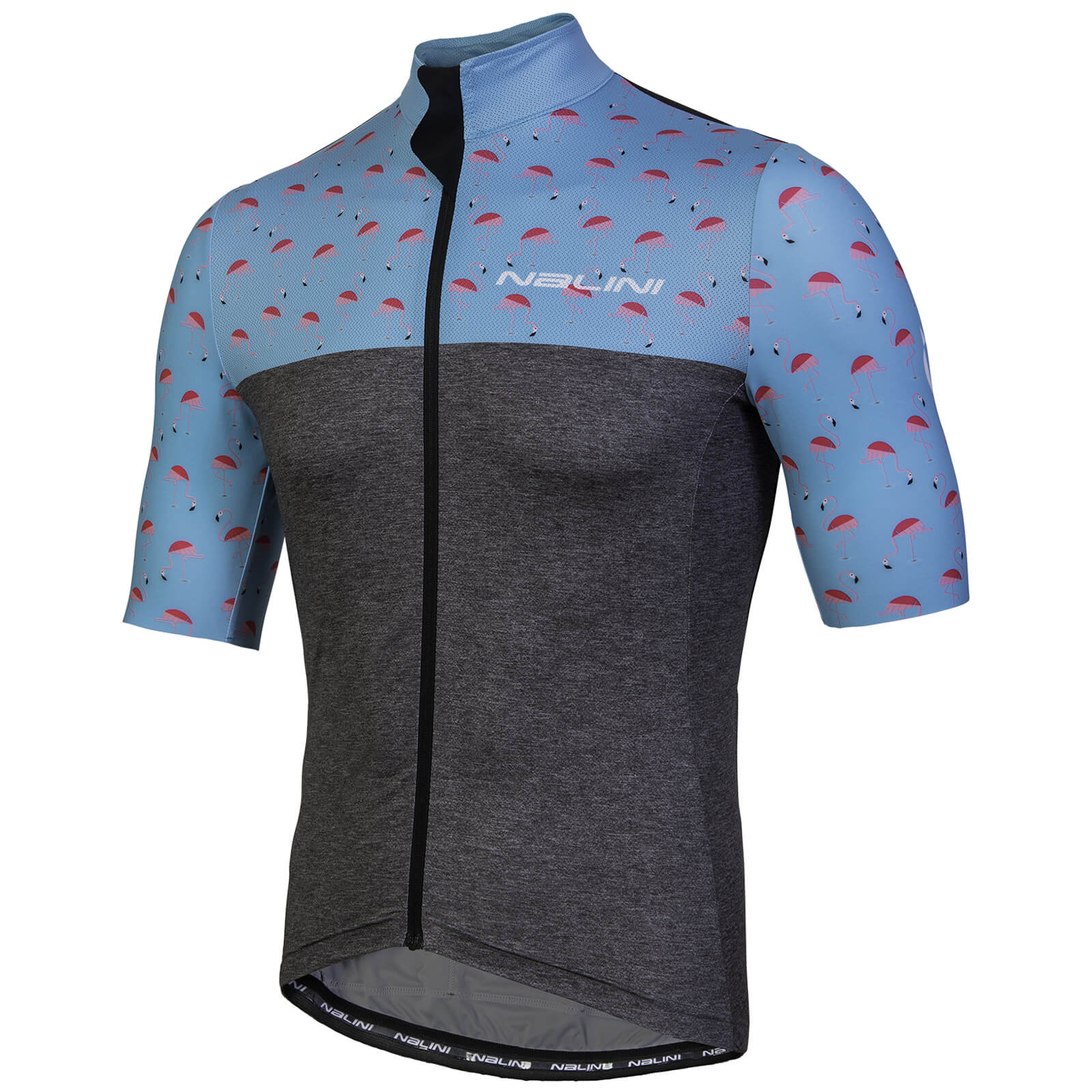 Nalini Centenario Short Sleeve Jersey - Grey/Flamingo