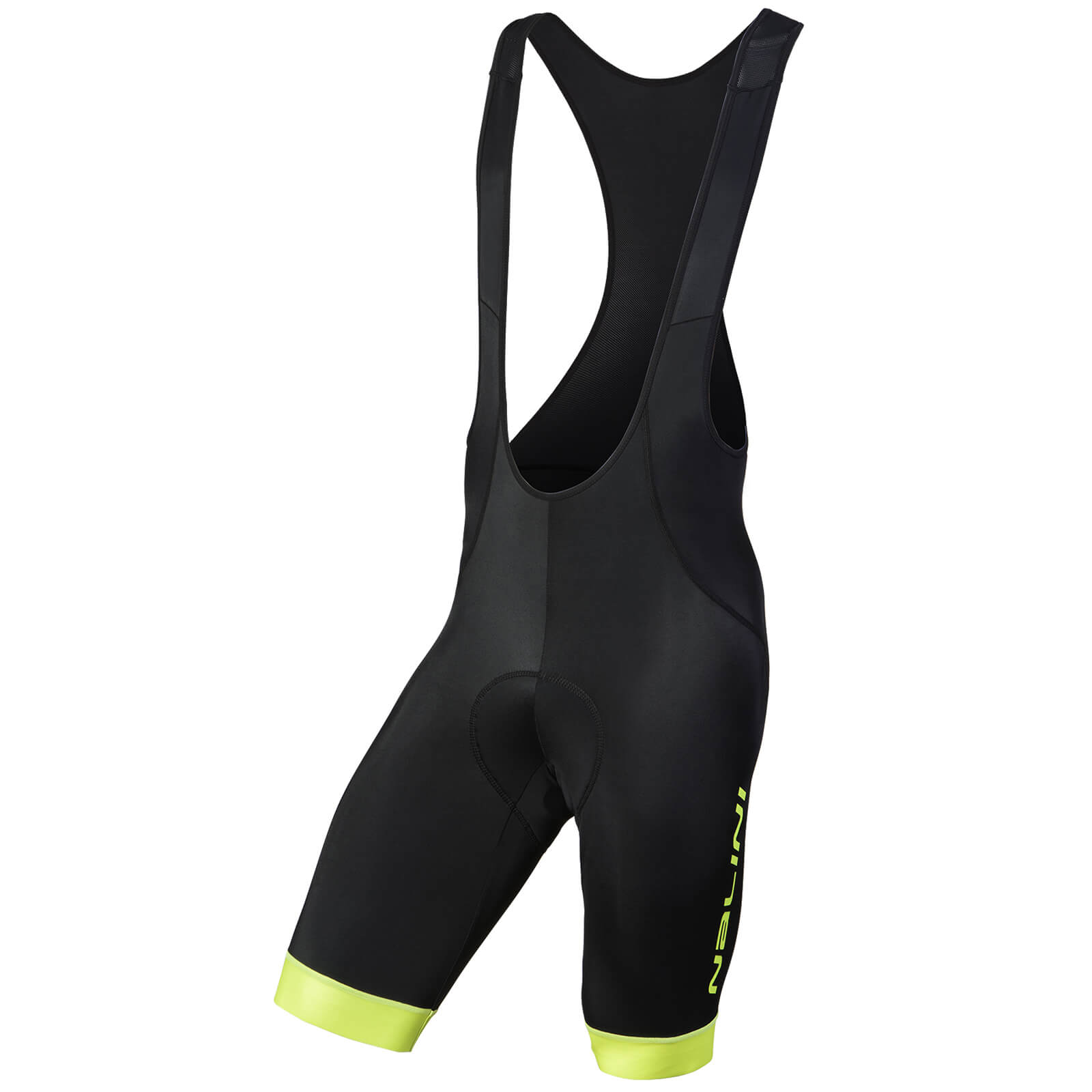 Nalini Gregario Bibshorts - Black/Fluro Yellow