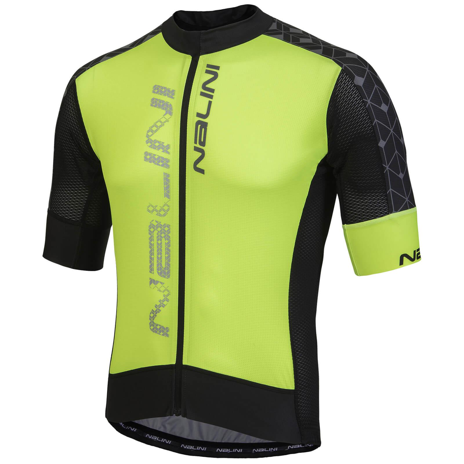 Nalini Velocita  Short Sleeve Jersey - Fluro Yellow Black ... 41634944f