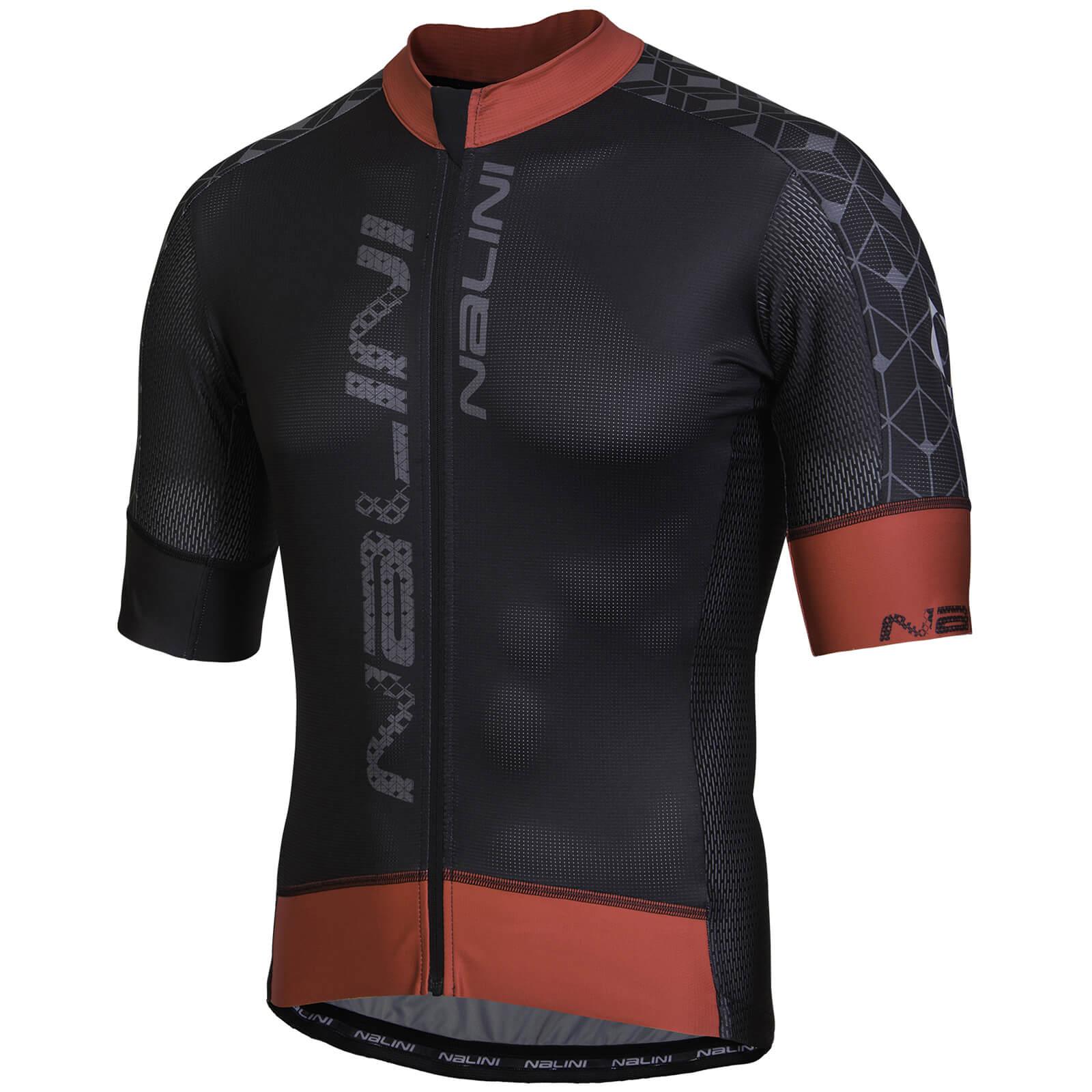 Nalini Velocita  Short Sleeve Jersey - Black Red  7b2a78f1d