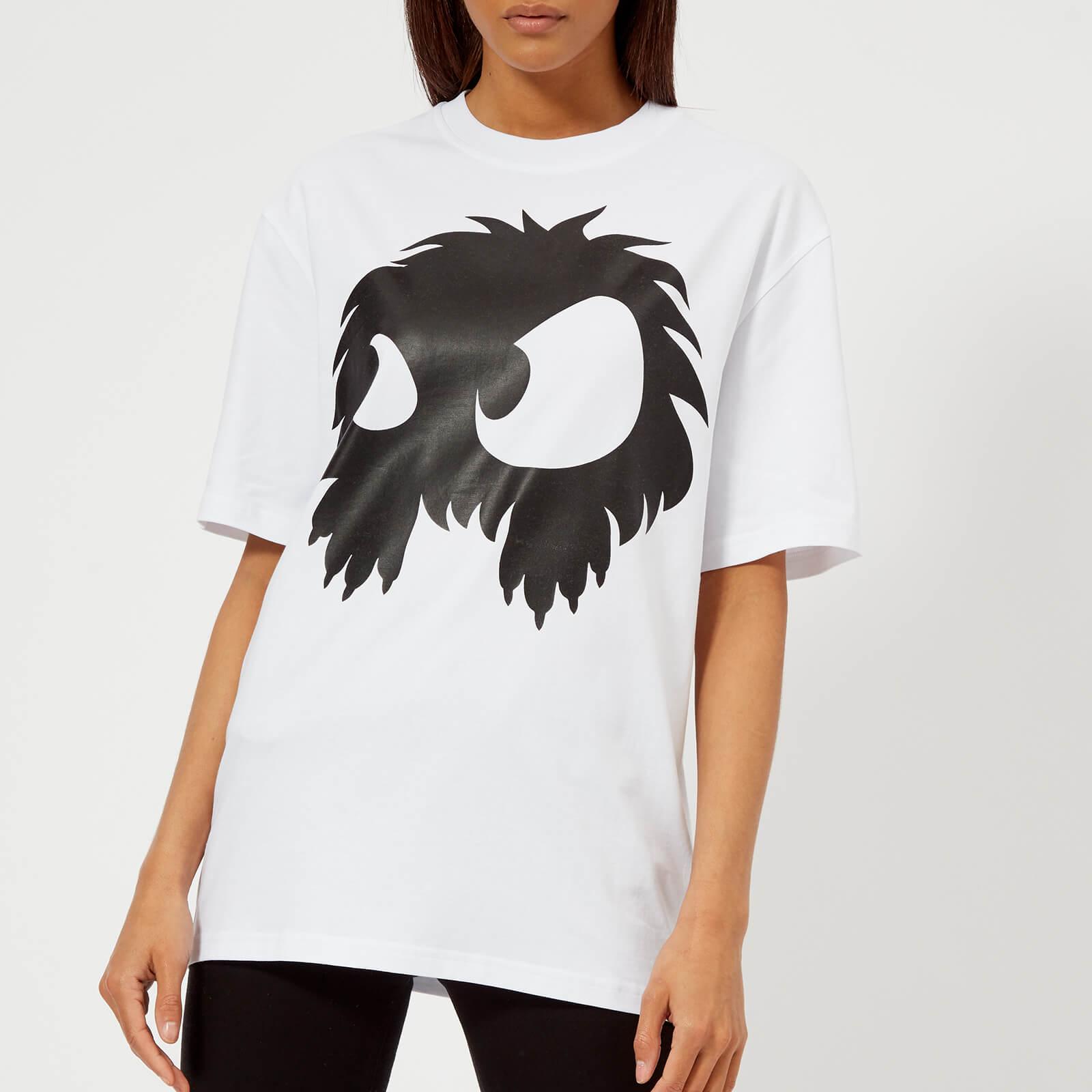 42d0a9d4 McQ Alexander McQueen Women's Boyfriend Chester Monster T-Shirt - Optic  White - Free UK Delivery over £50