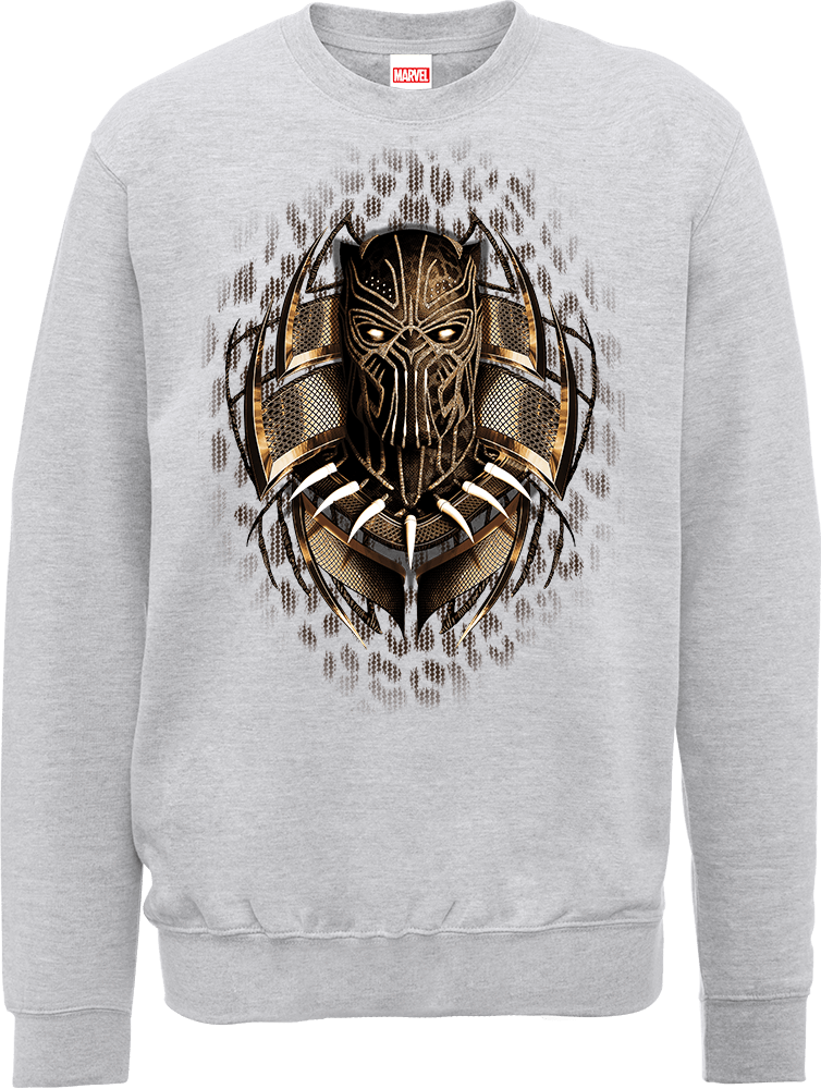 Black Panther Gold Erik Sweatshirt - Grey