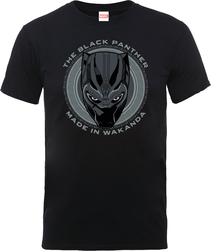 Black Panther Made in Wakanda T-Shirt - Black Clothing  00b58924d