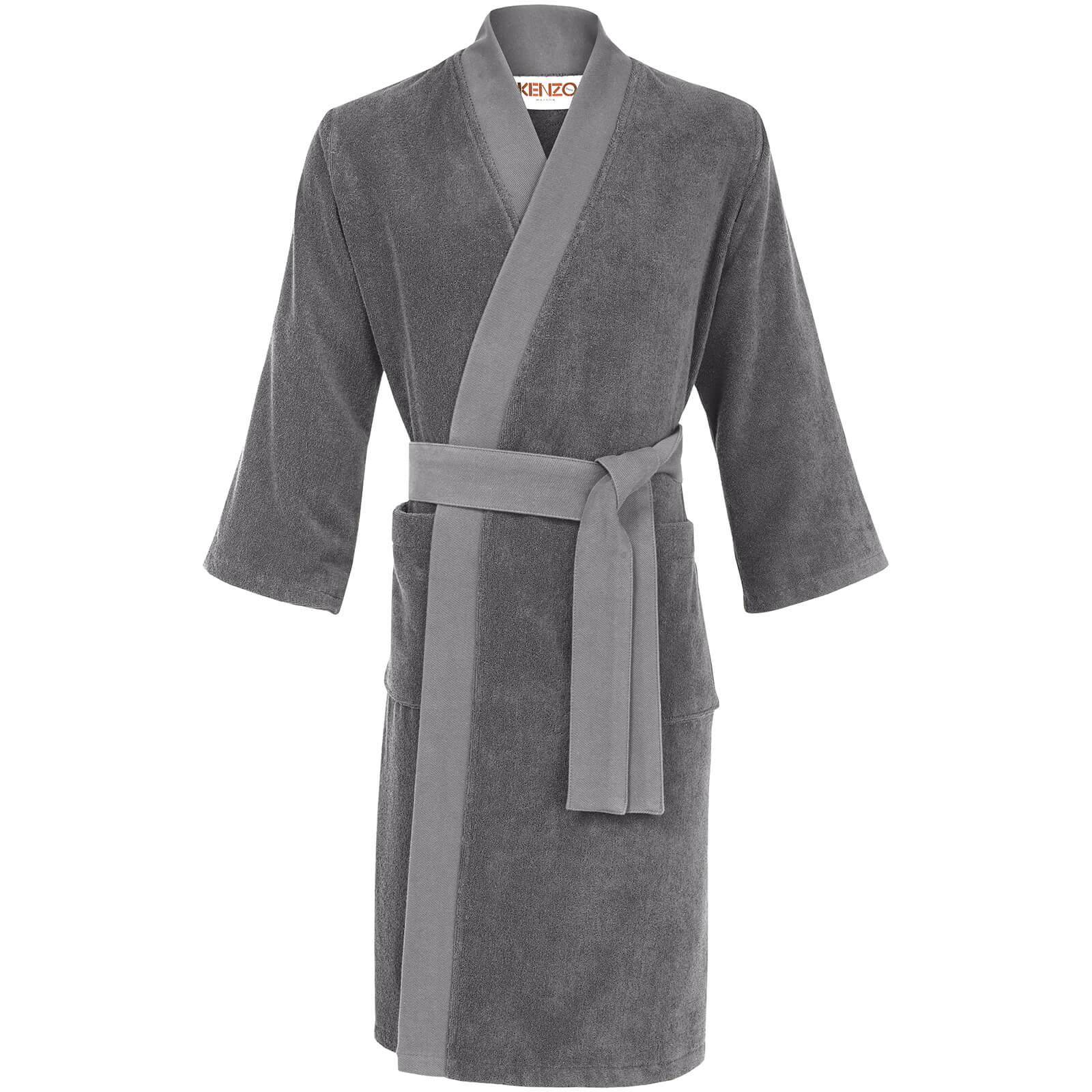 95225d81ca KENZO Iconic Bathrobe - Grey - Free UK Delivery over £50