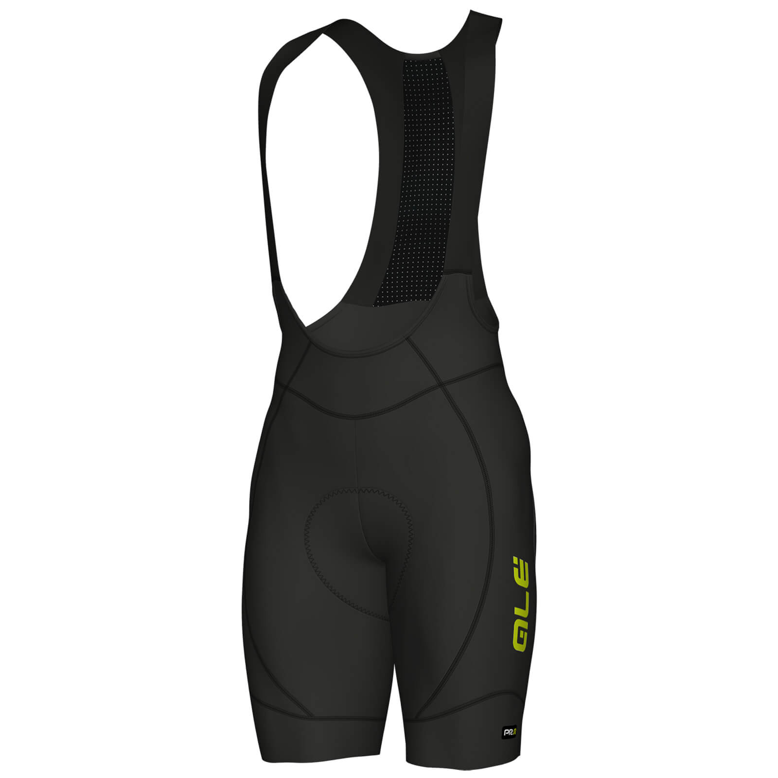 Alé PRR 2.0 Agonista Bib Shorts - Black/Yellow