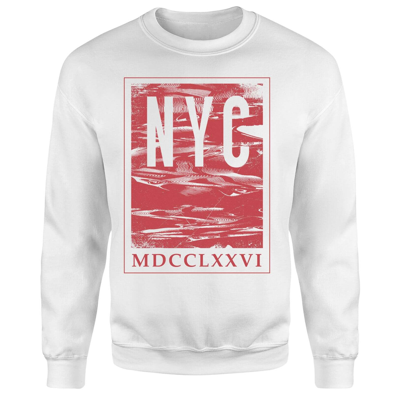 NYC Roman Sweatshirt - White