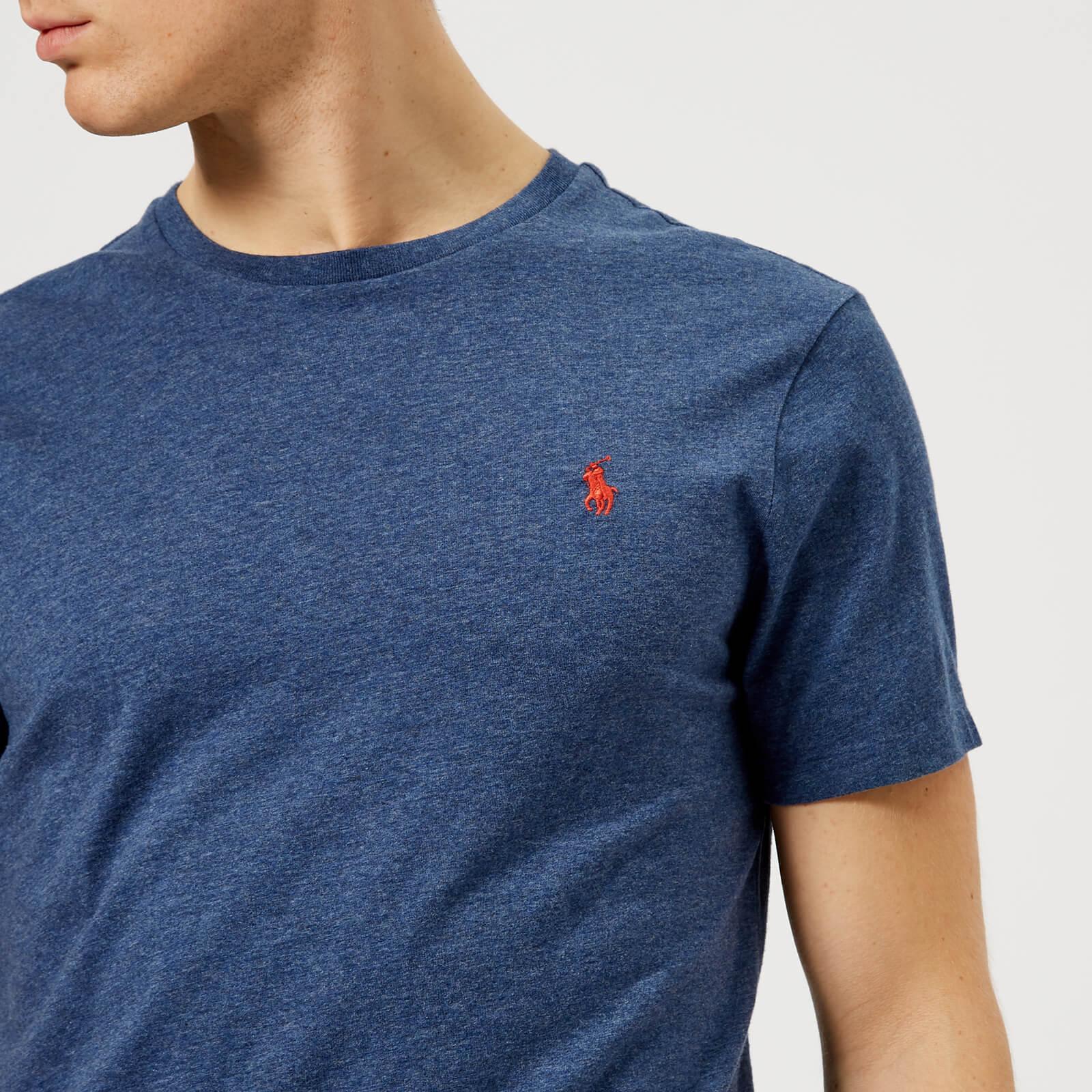78514b50d Polo Ralph Lauren Men's Basic Crew Neck T-Shirt - Rustic Navy Heather -  Free UK Delivery over £50