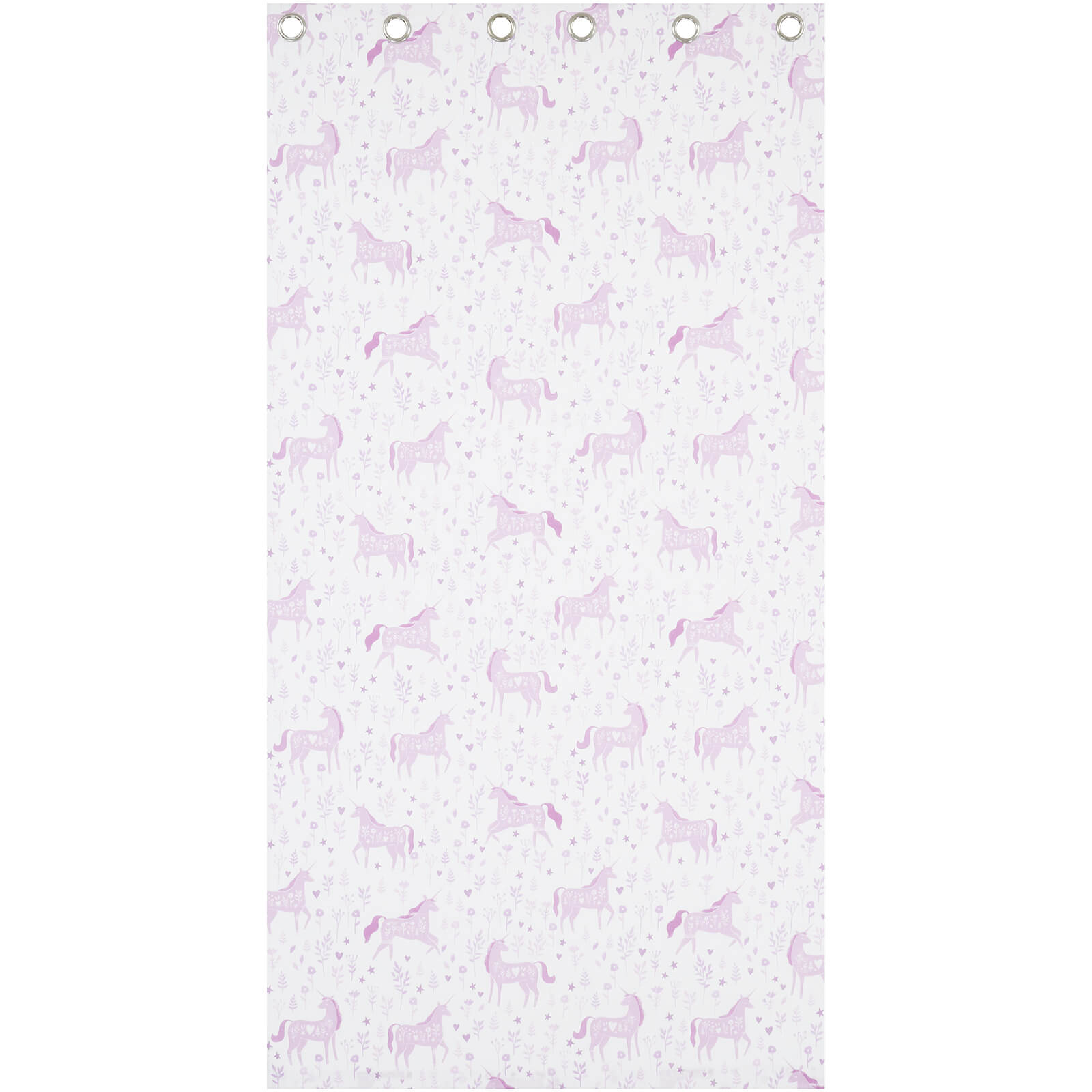 Catherine Lansfield Folk Unicorn Curtains - Pink - 168 x 183cm