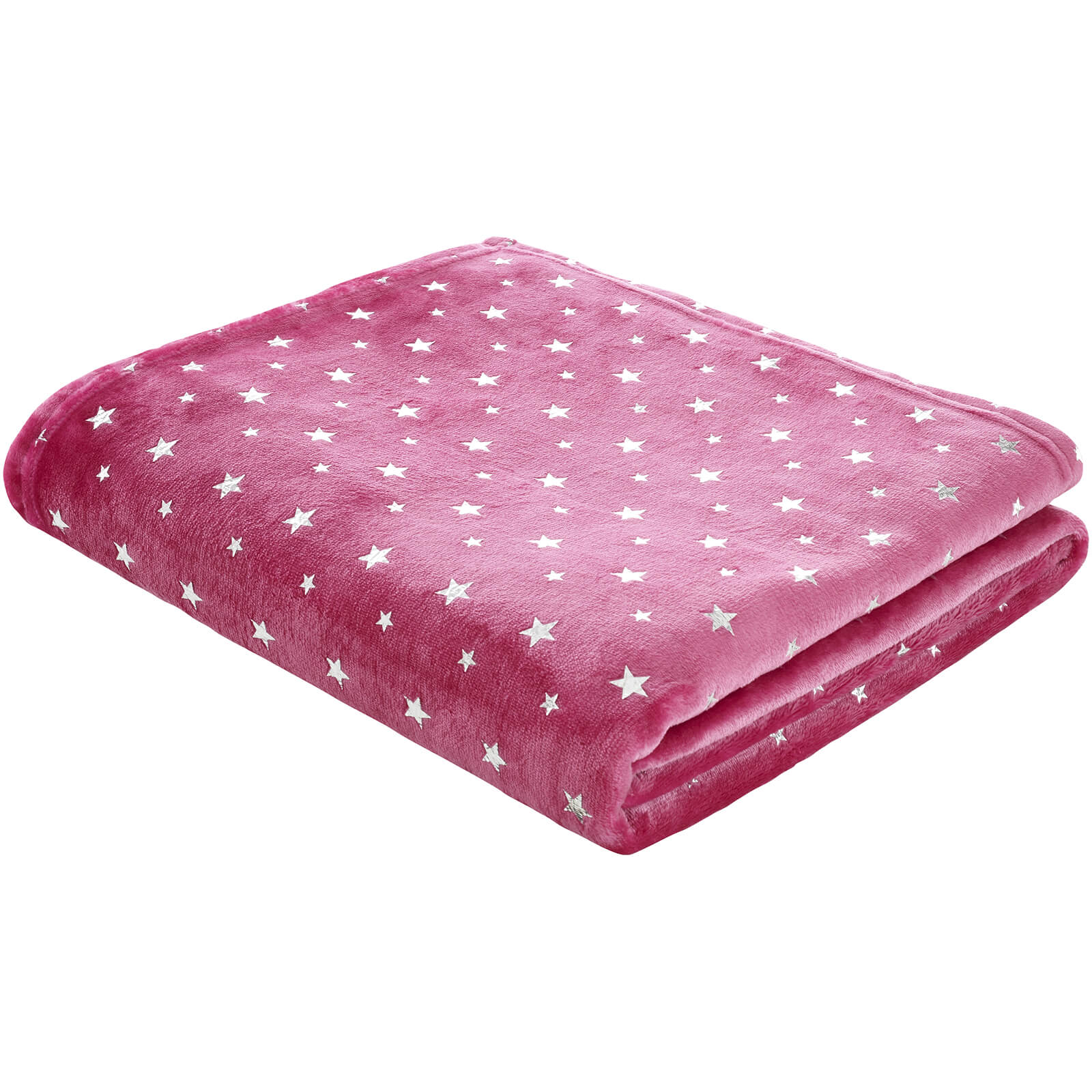 Catherine Lansfield Star Throw - Pink - 120 x 150cm