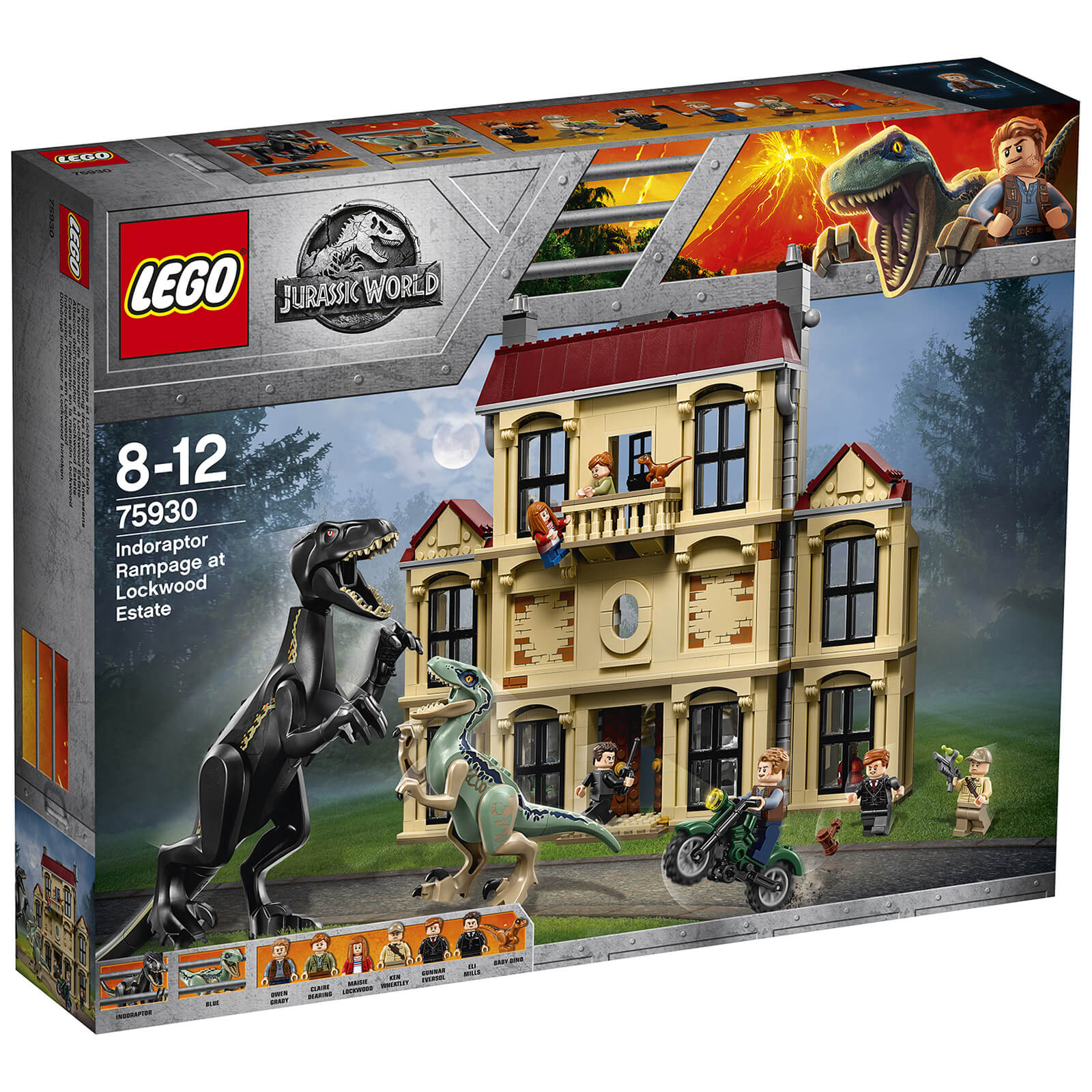 LEGO Jurassic Fallen Kingdom: Indoraptor Rampage at Lockwood Estate (75930)