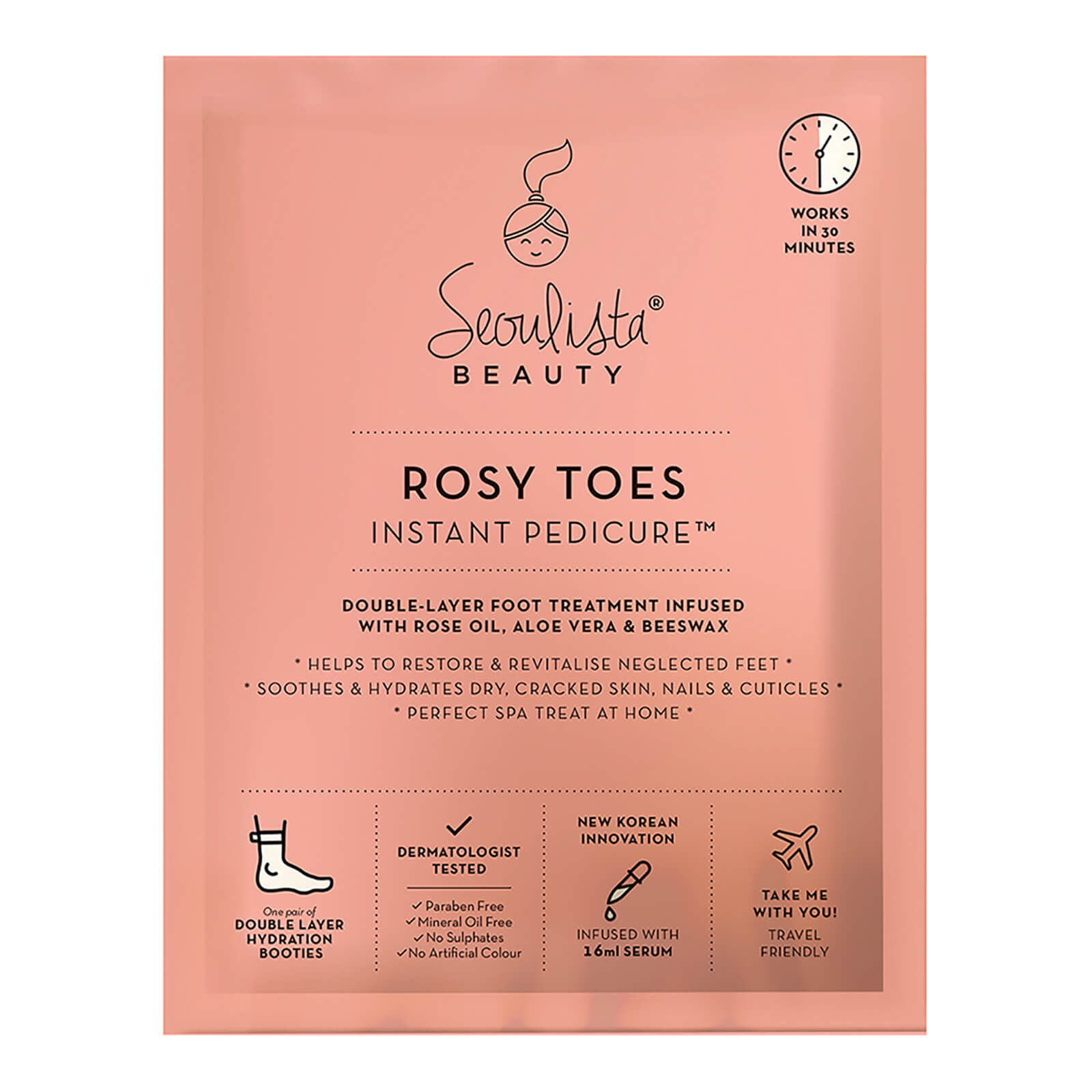 Seoulista Beauty Rosy Toes Instant Pedicure
