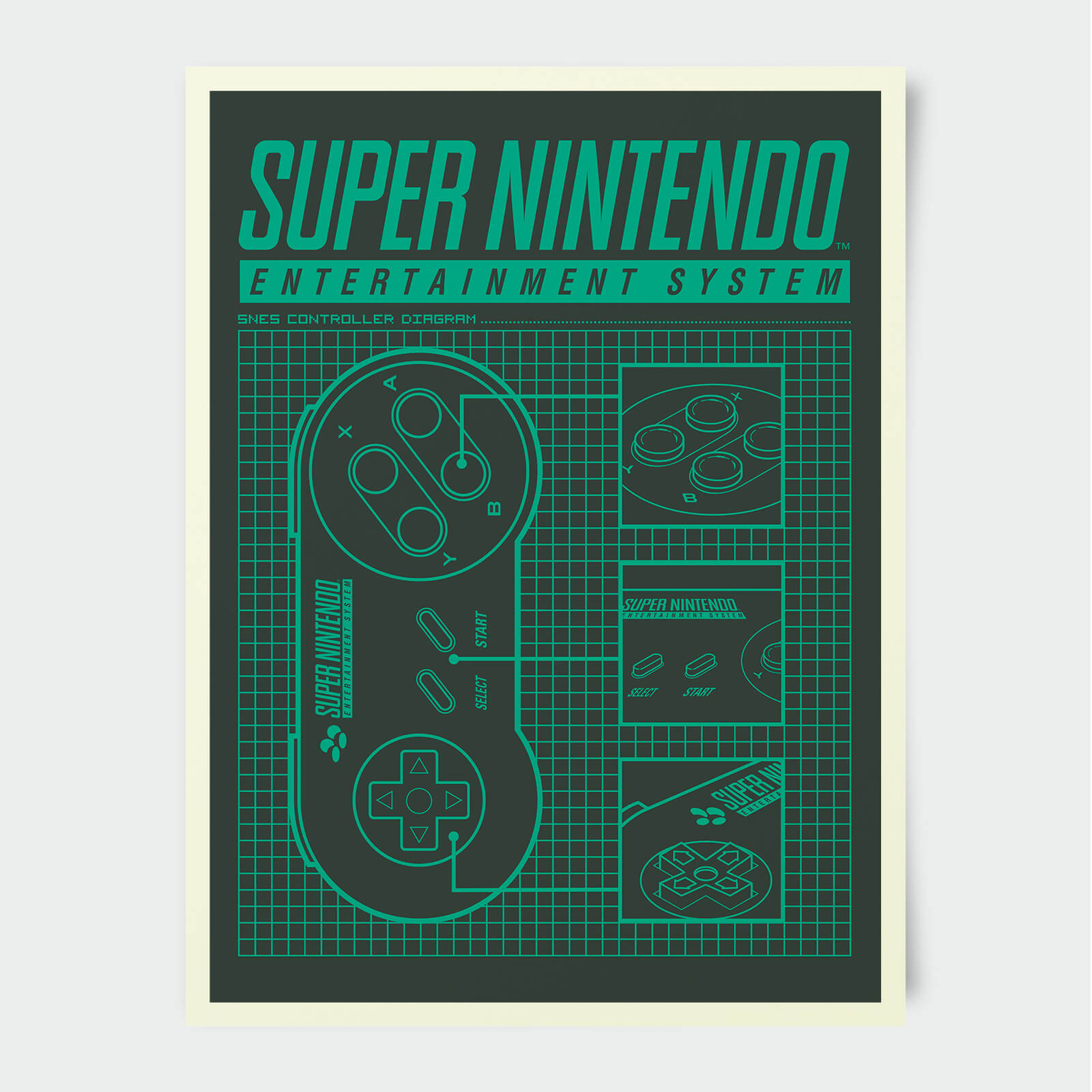 Nintendo Super Nintendo Entertainment System Print