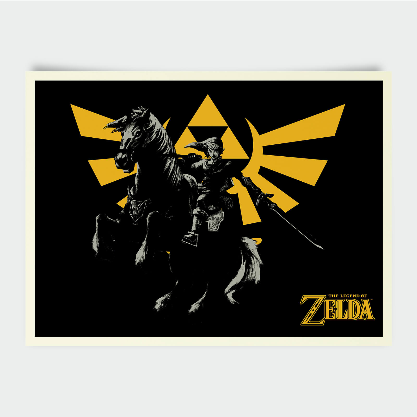 Nintendo Legend Of Zelda Triforce Horse Print