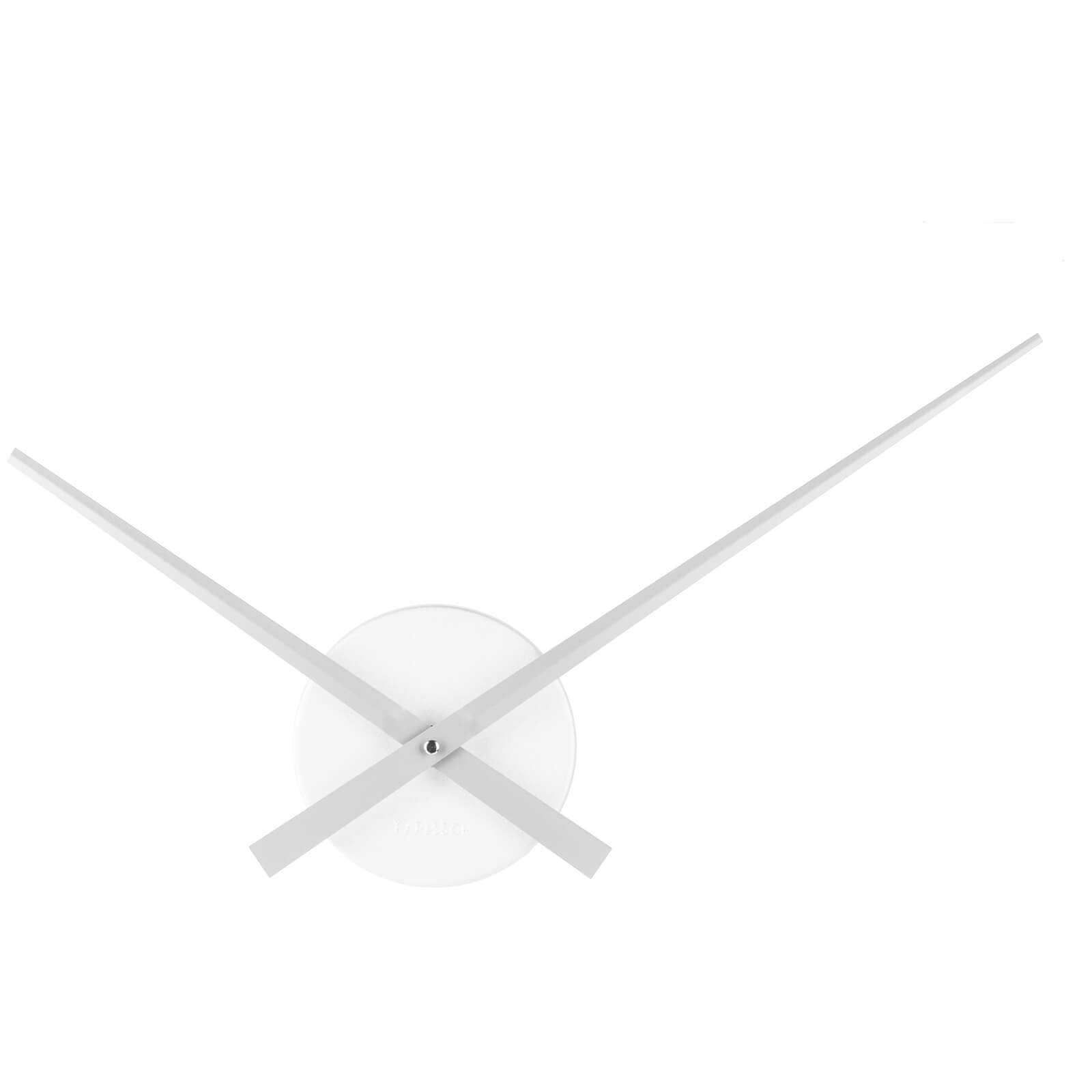 Karlsson Little Big Time Wall Clock - Mini Alu Silver