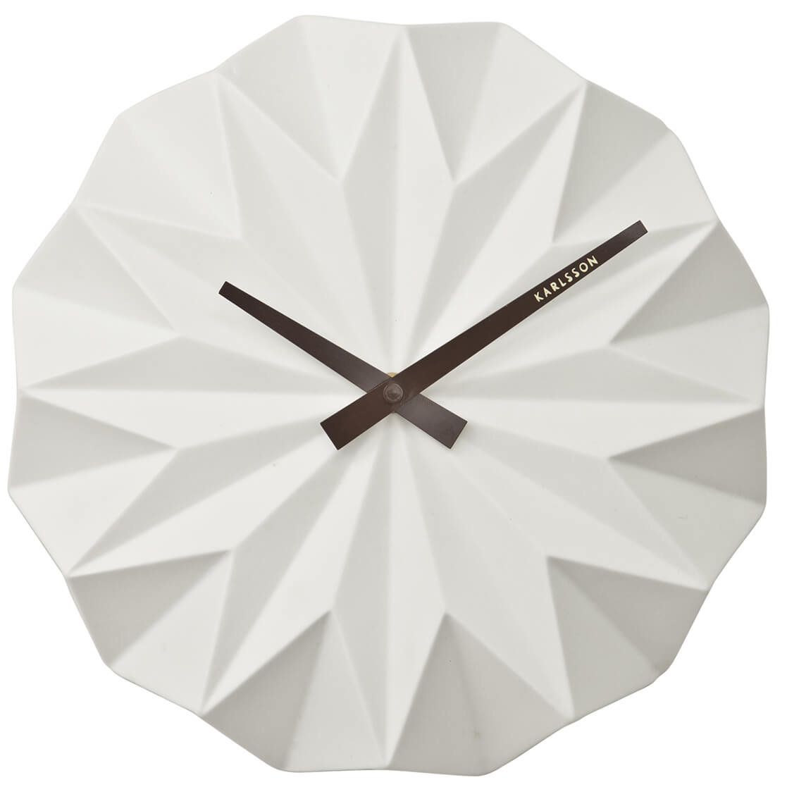 Karlsson Origami Ceramic Wall Clock - Matt White