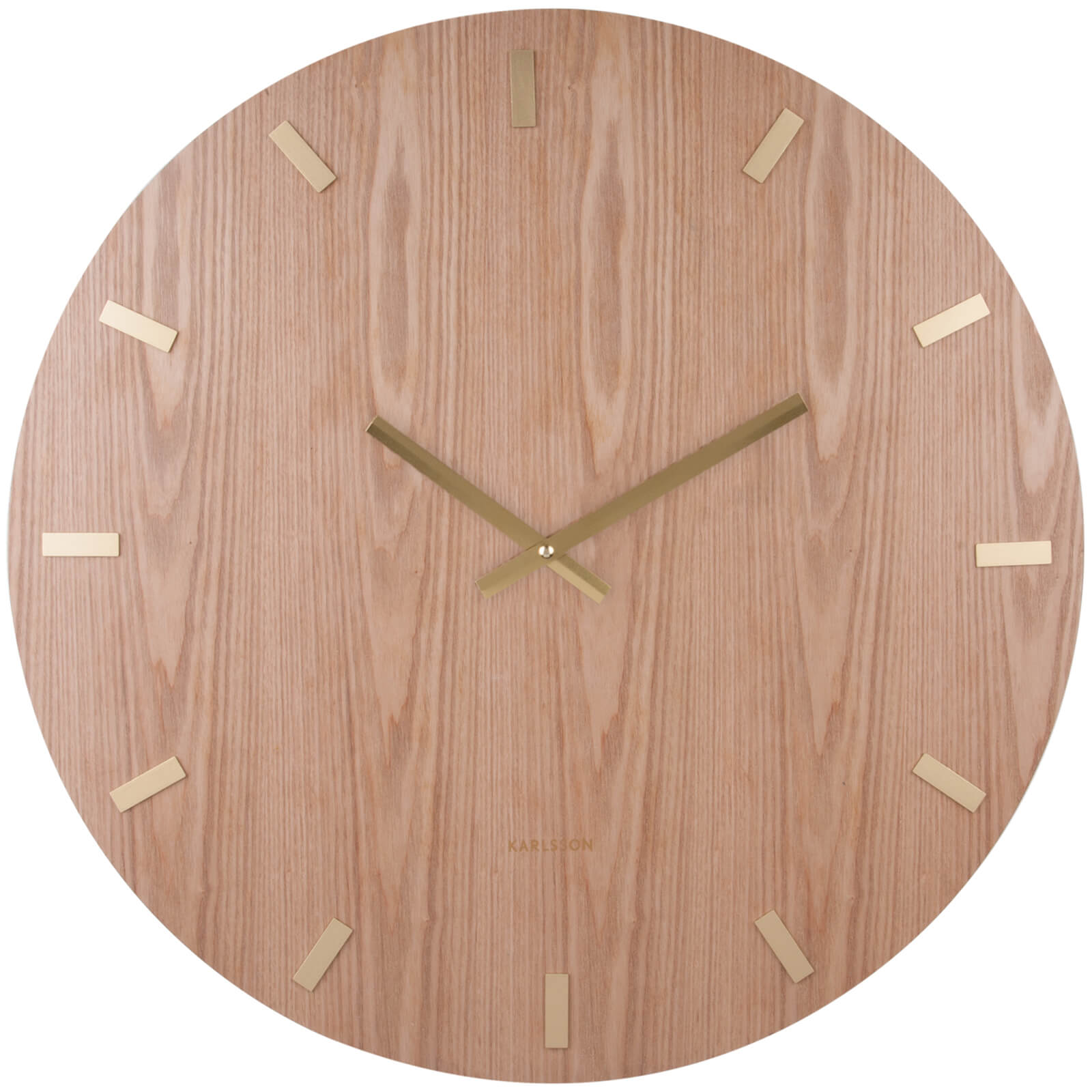 Karlsson Wood XL Wall Clock - Light Wood