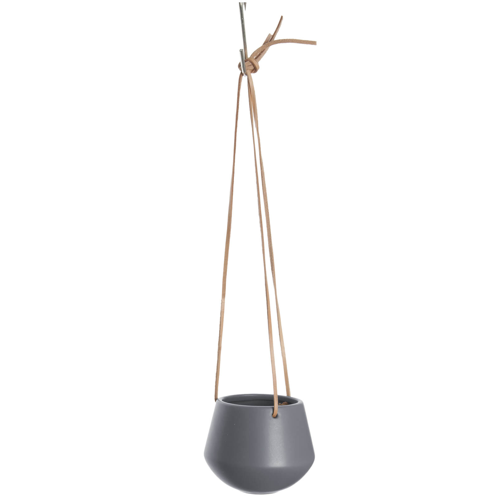 Present Time Small Skittle Hanging Pot - Matt Warm Grey