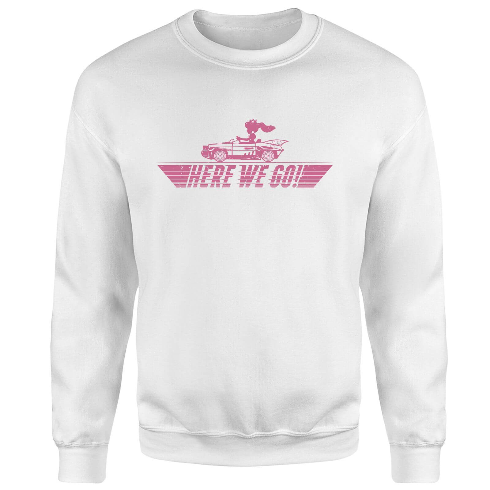 Mario Kart Here We Go Peach Sweatshirt - White