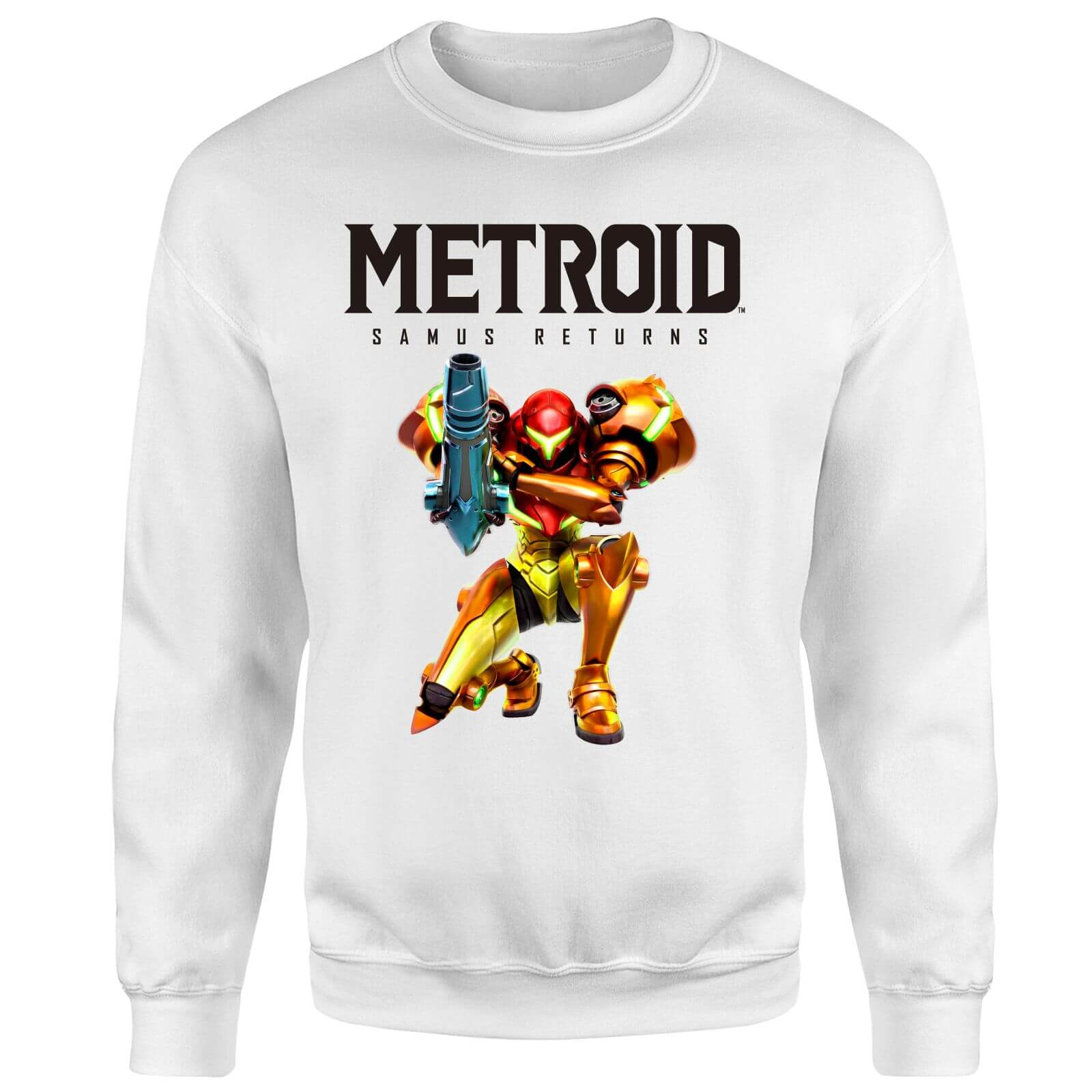Metroid Samus Returns Sweatshirt - White