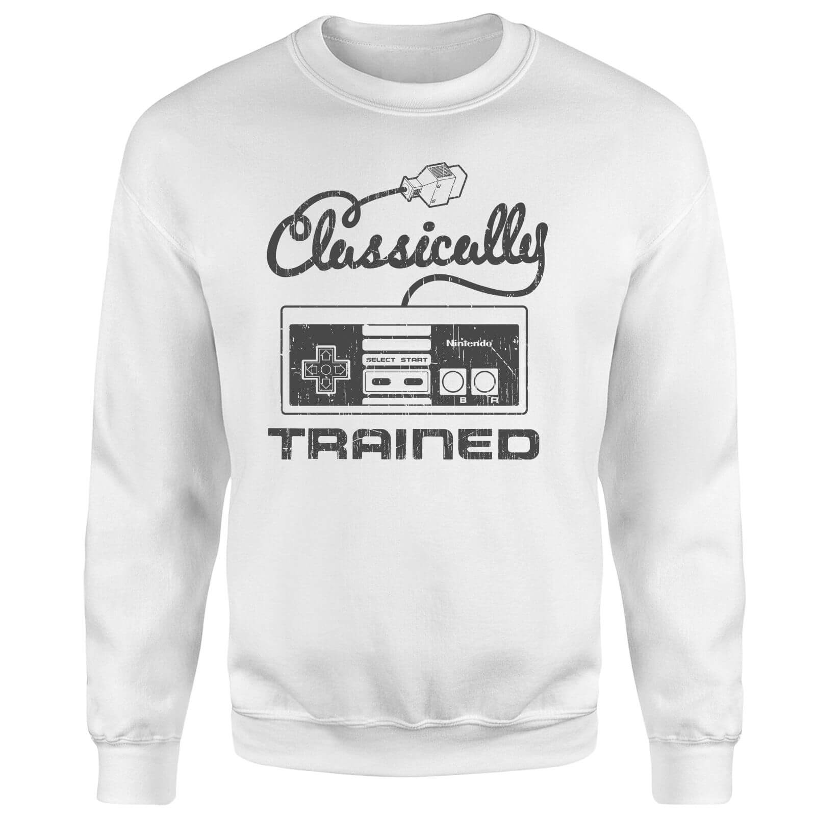 Retro NES Classically Trained Sweatshirt - White