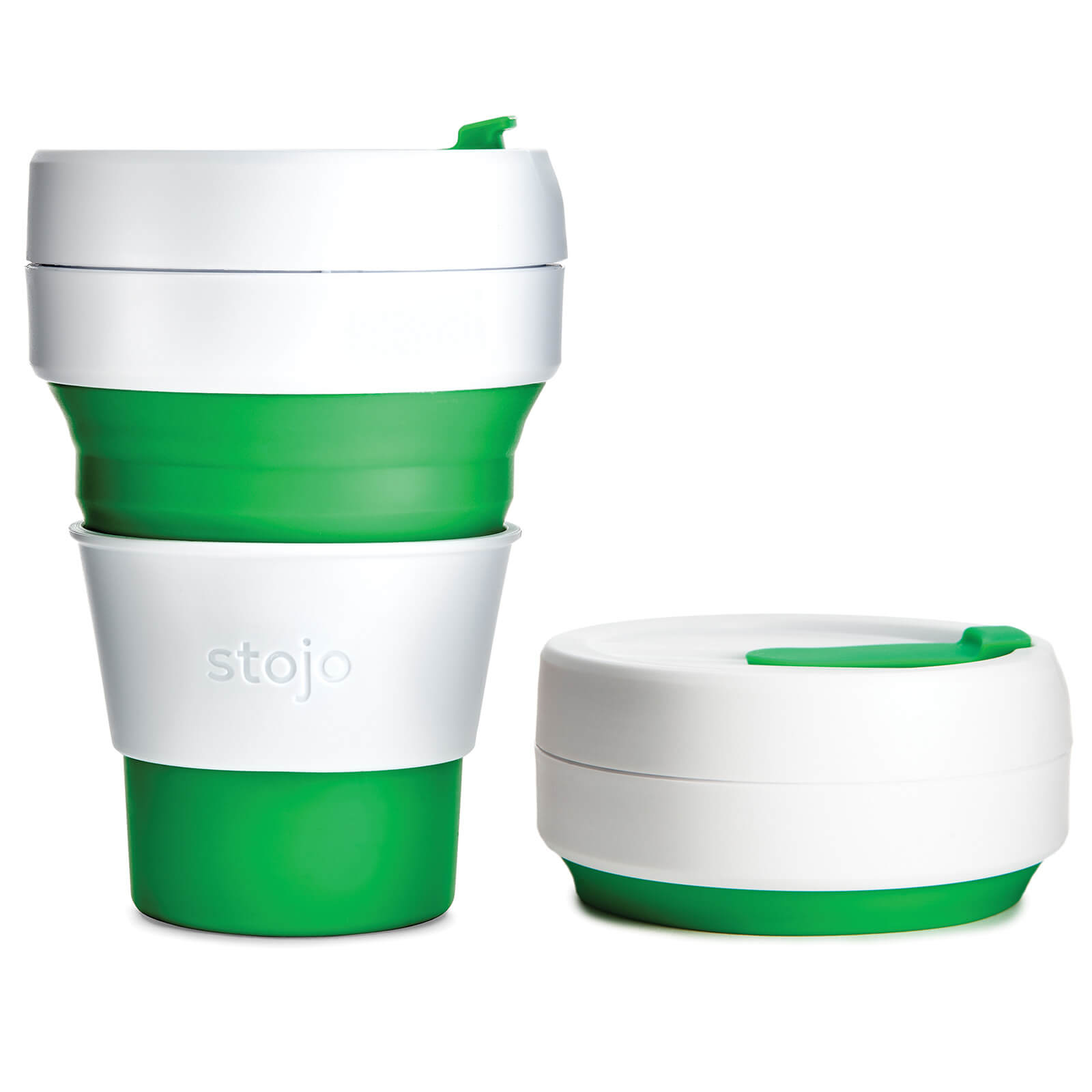 Stojo Collapsible Pocket Cup - Green 355ml