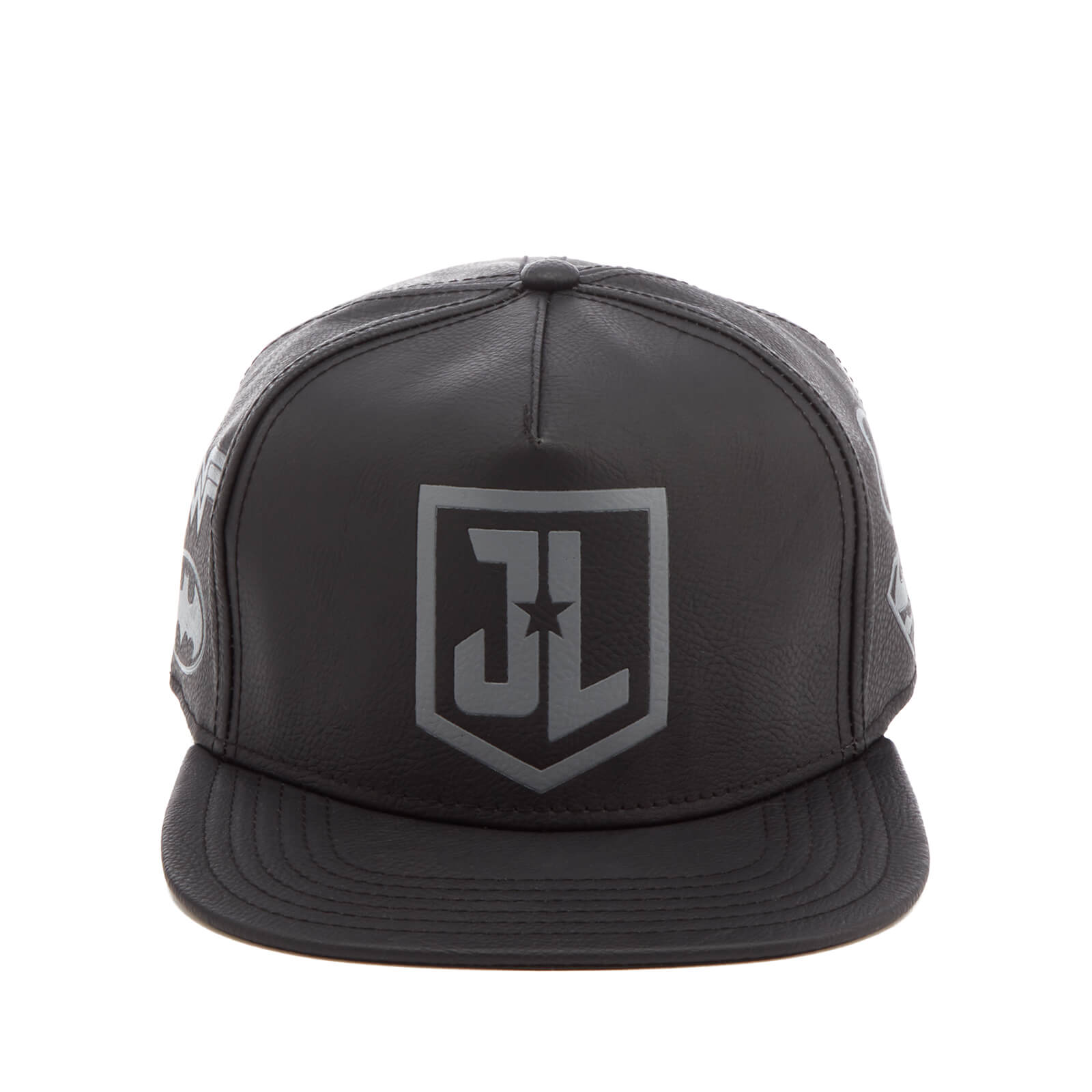 7481ee3edc16a DC Comics Justice League Men s Debossed Logo Cap - Black Merchandise ...