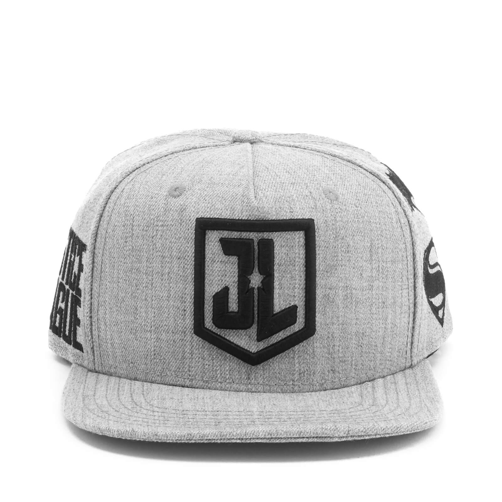 d90151b5abda7 DC Comics Justice League Men s Embroidery Logo Cap - Grey Merchandise
