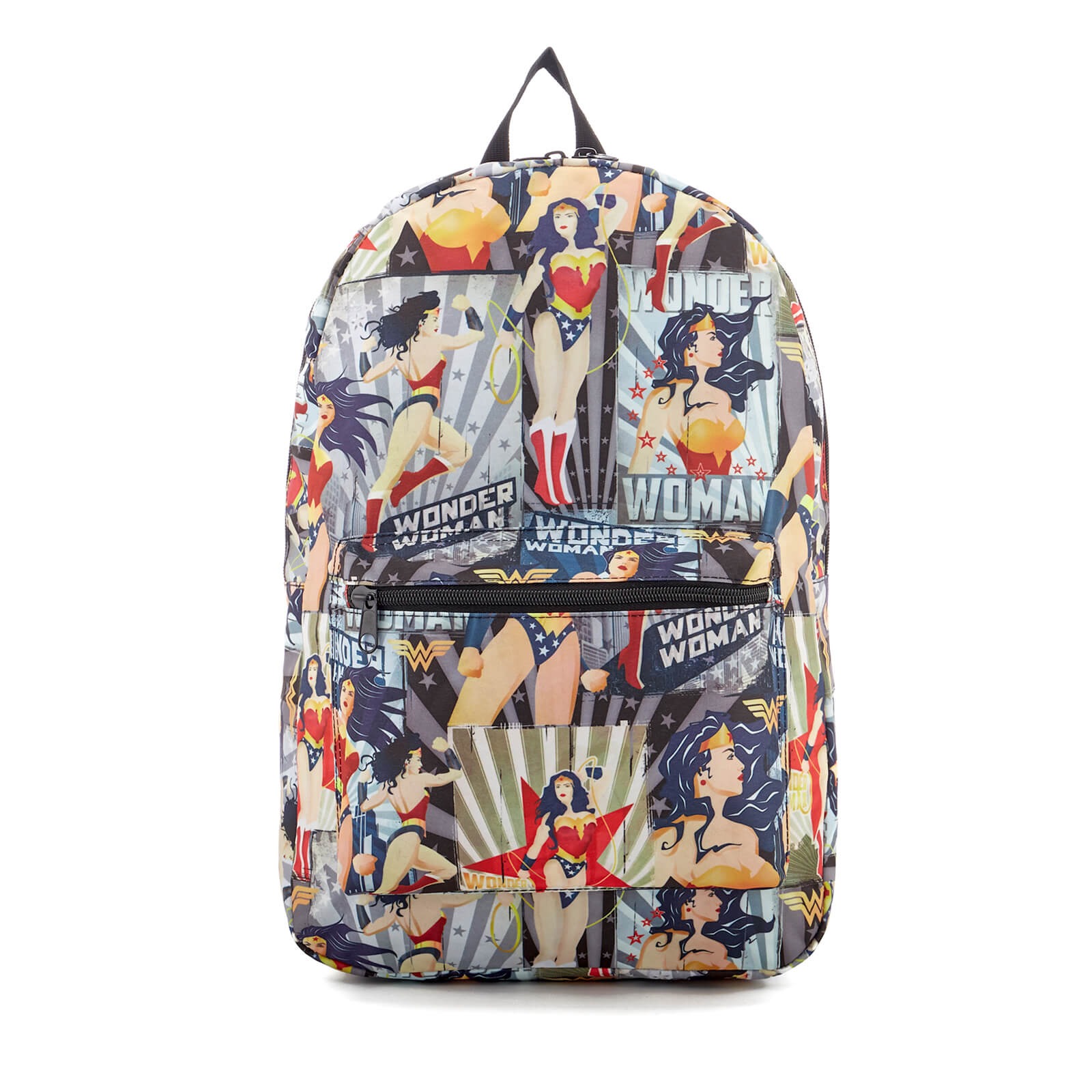 DC Comics Wonder Woman Vintage Poster Backpack - Red
