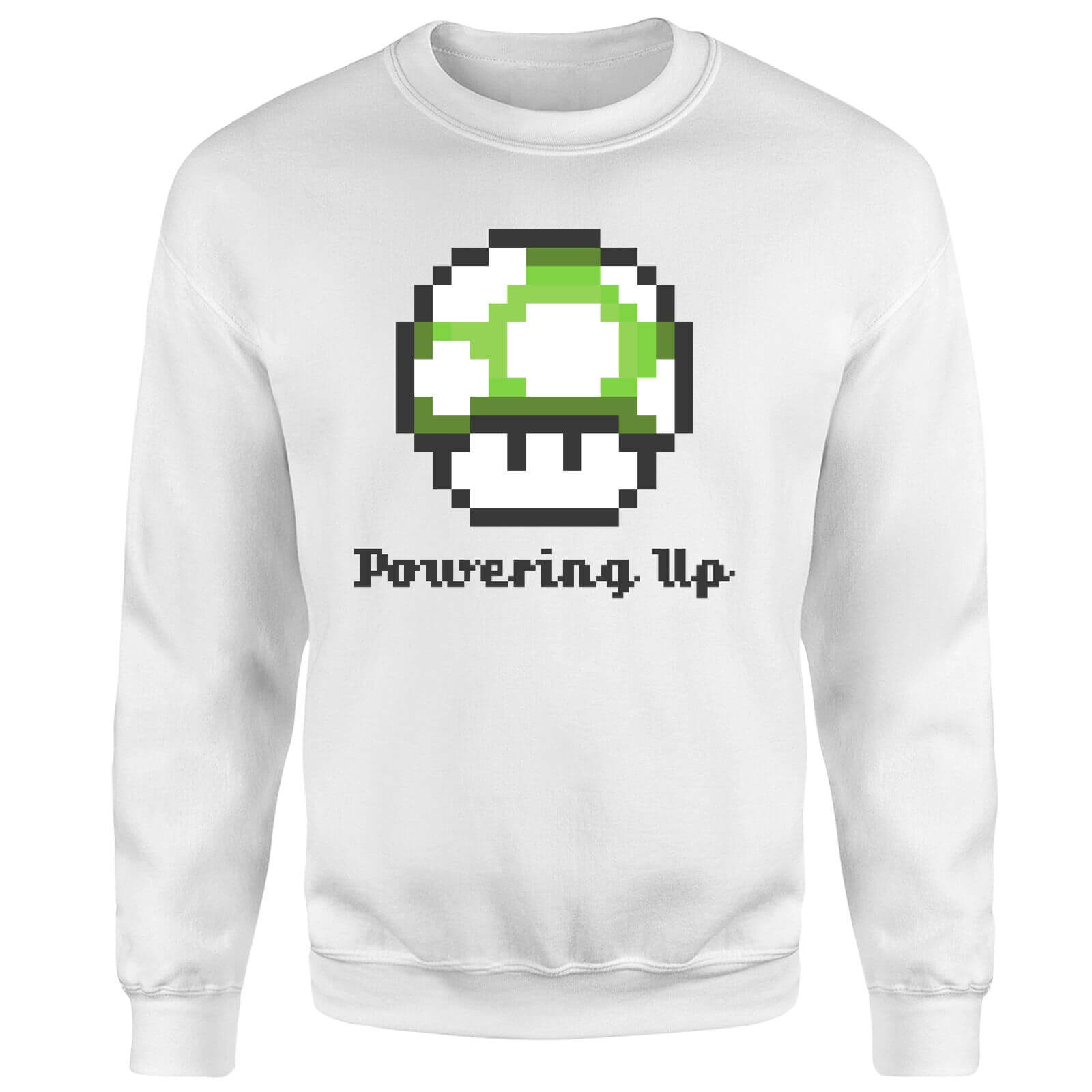 Nintendo Super Mario Powering Up Sweatshirt - White