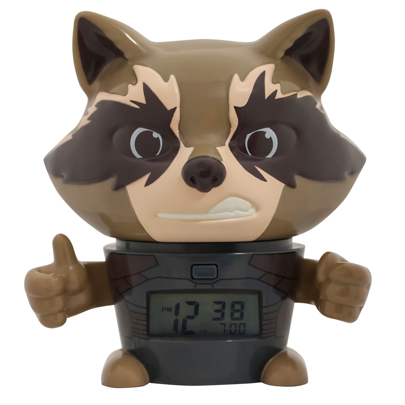 Bulbbotz Marvel The Avengers: Infinity War Rocket Raccoon Clock (5.5 inches)