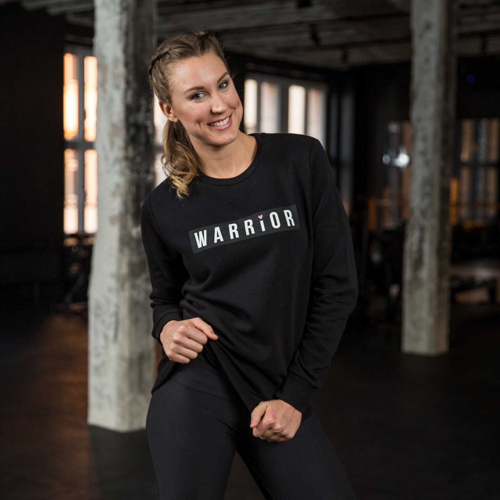 Healthy Madame Warrior Sweatshirt - Black - S